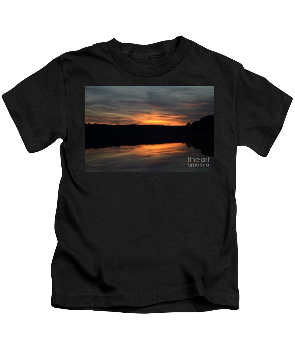 Sunset Kids T-Shirt featuring the photograph Painted Picture Perfect by Donna Brown
