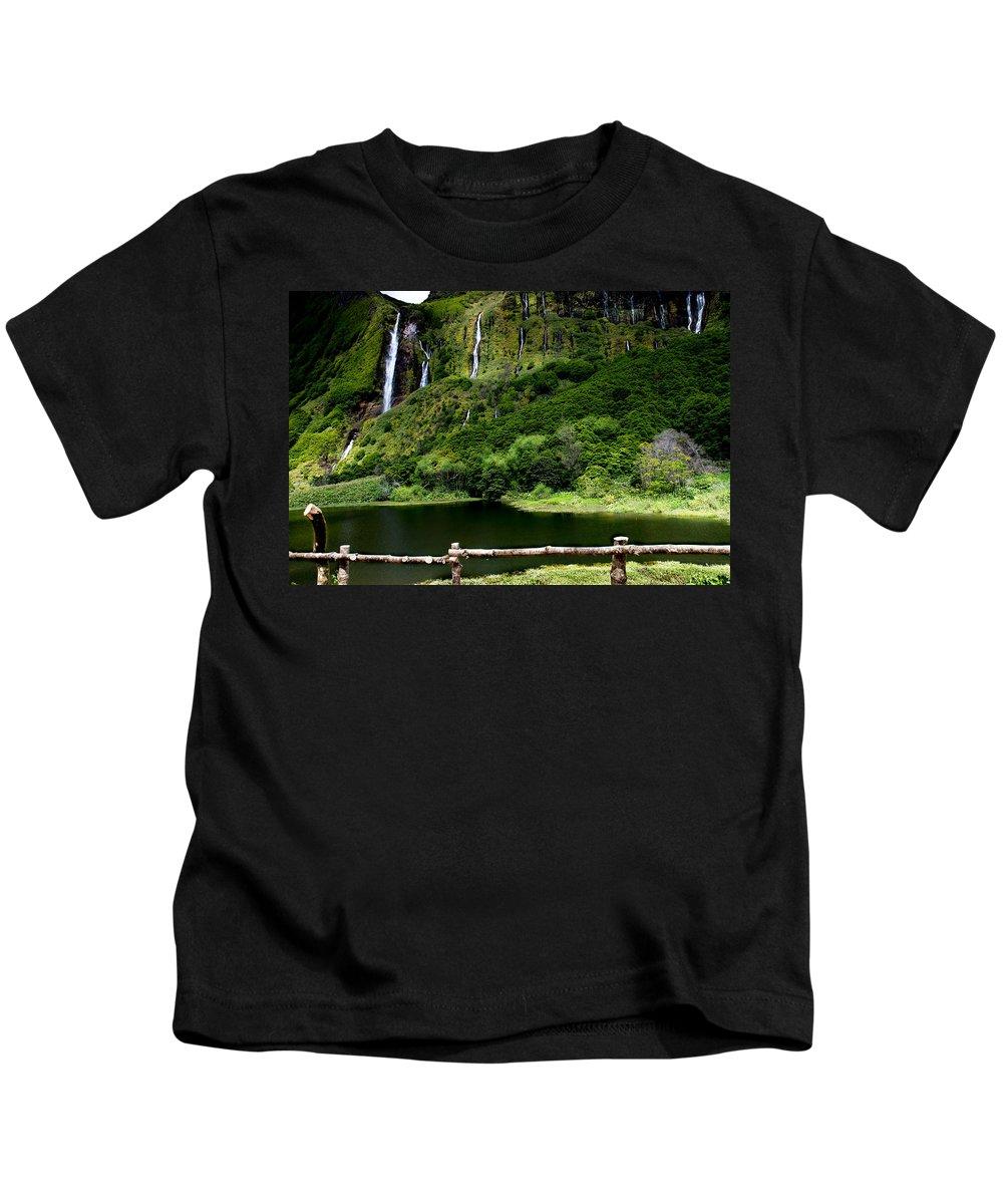 Waterfalls Kids T-Shirt featuring the photograph Paradise II by Edgar Laureano