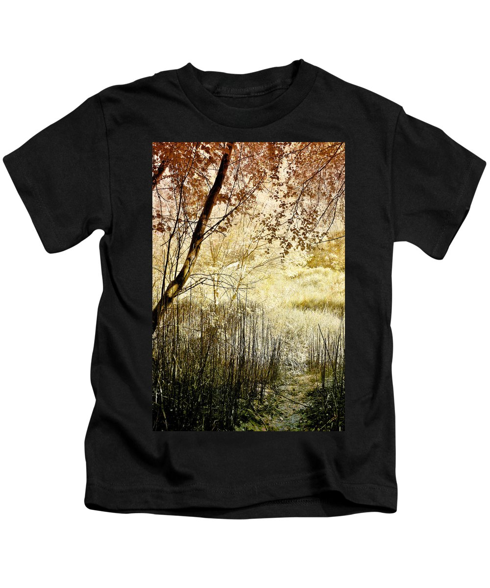 Meadow Kids T-Shirt featuring the photograph Path To The Meadow by Ellen Heaverlo