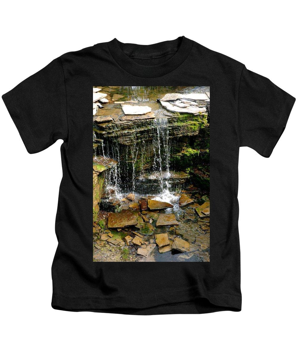 Usa Kids T-Shirt featuring the photograph Peaceful Rocks by LeeAnn McLaneGoetz McLaneGoetzStudioLLCcom