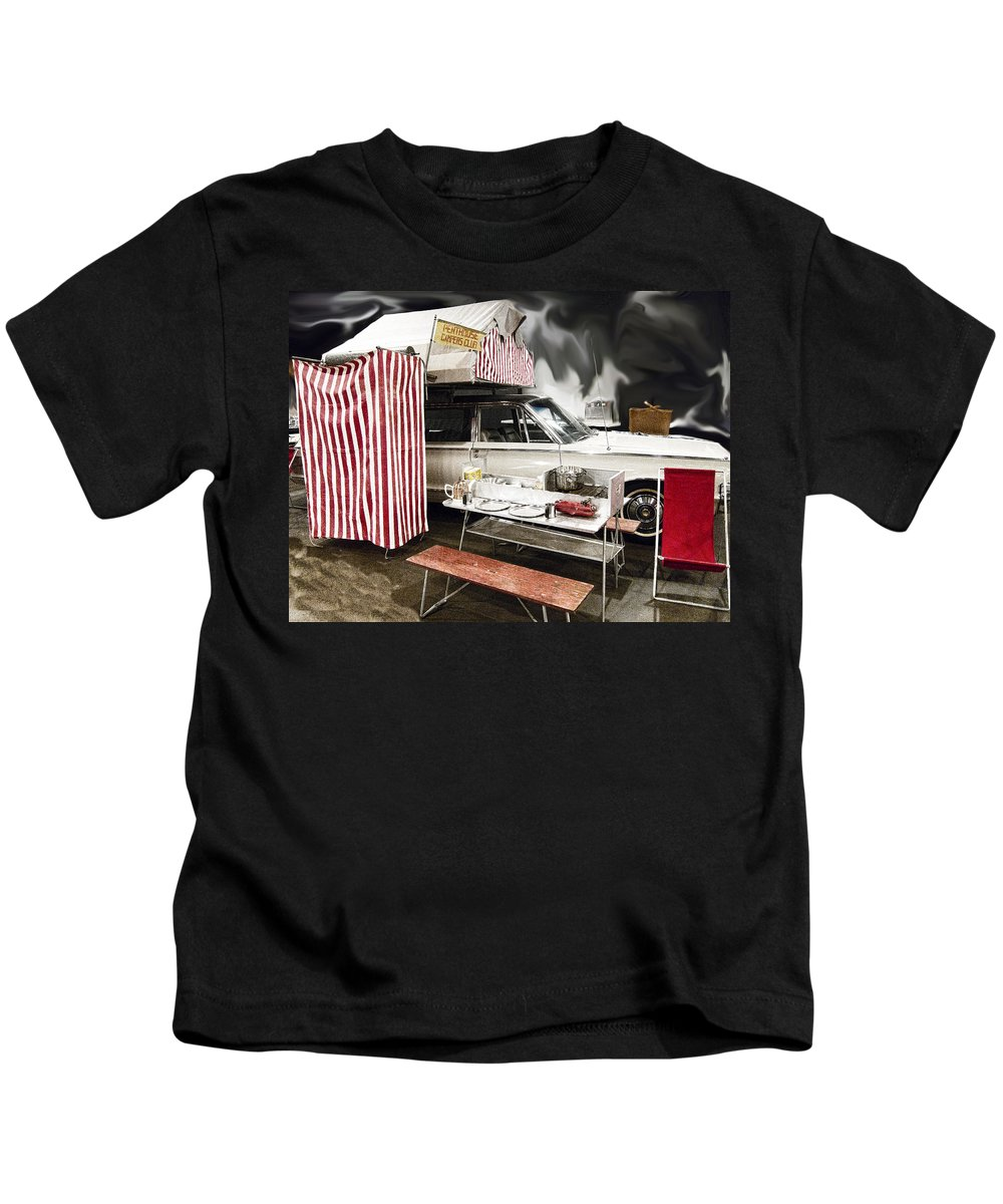 1964 Kids T-Shirt featuring the photograph Penthouse Campers Club-chrysler by Douglas Barnard