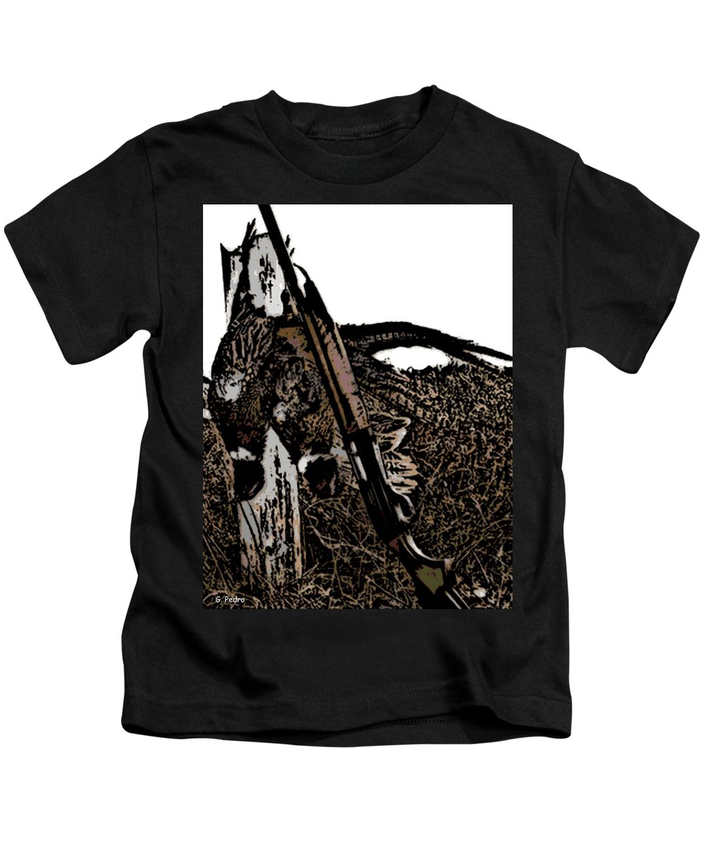 Pheasant Kids T-Shirt featuring the photograph Pheasant Hunt by George Pedro
