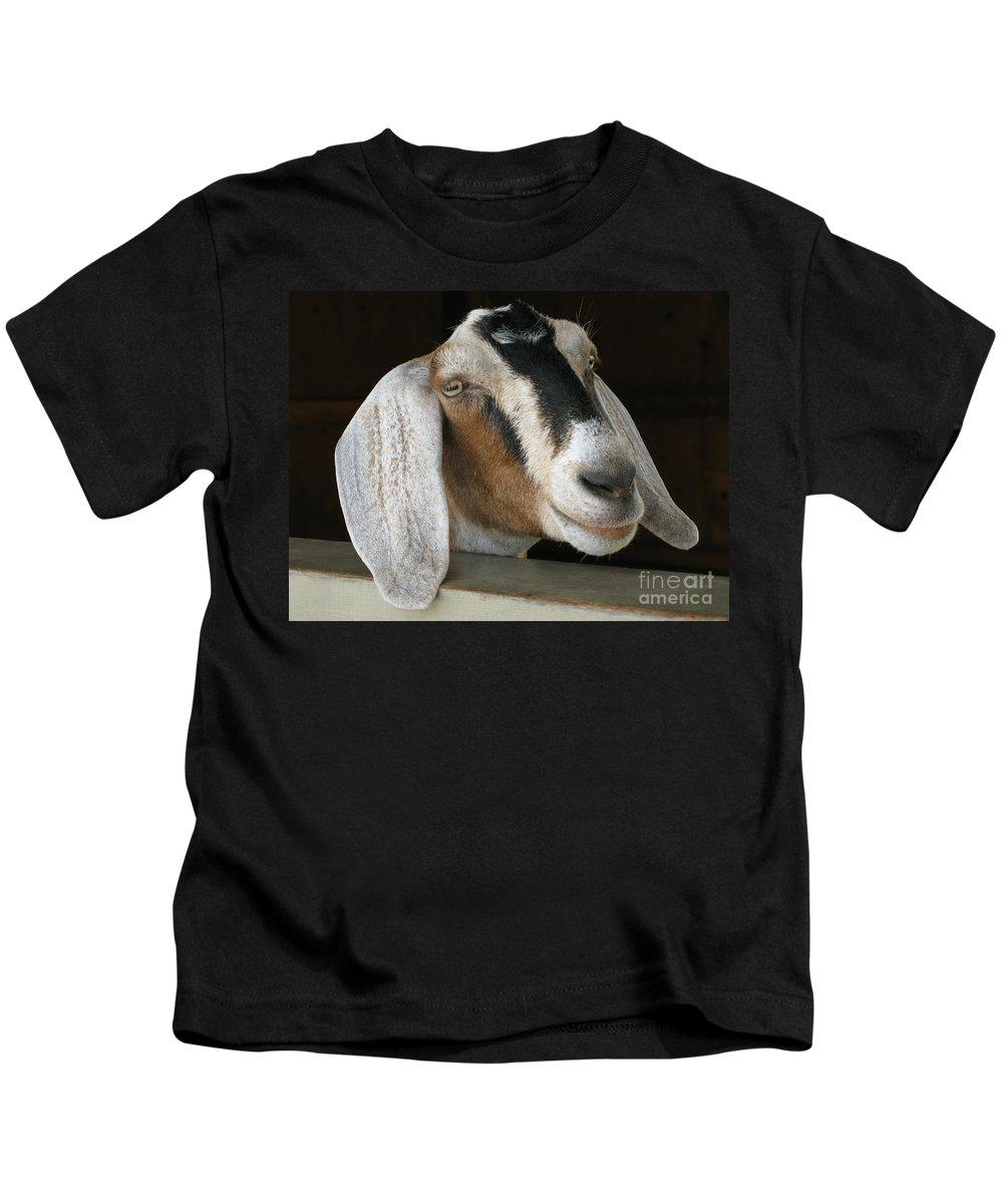 Goat Kids T-Shirt featuring the photograph Photogenic Goat by Ann Horn
