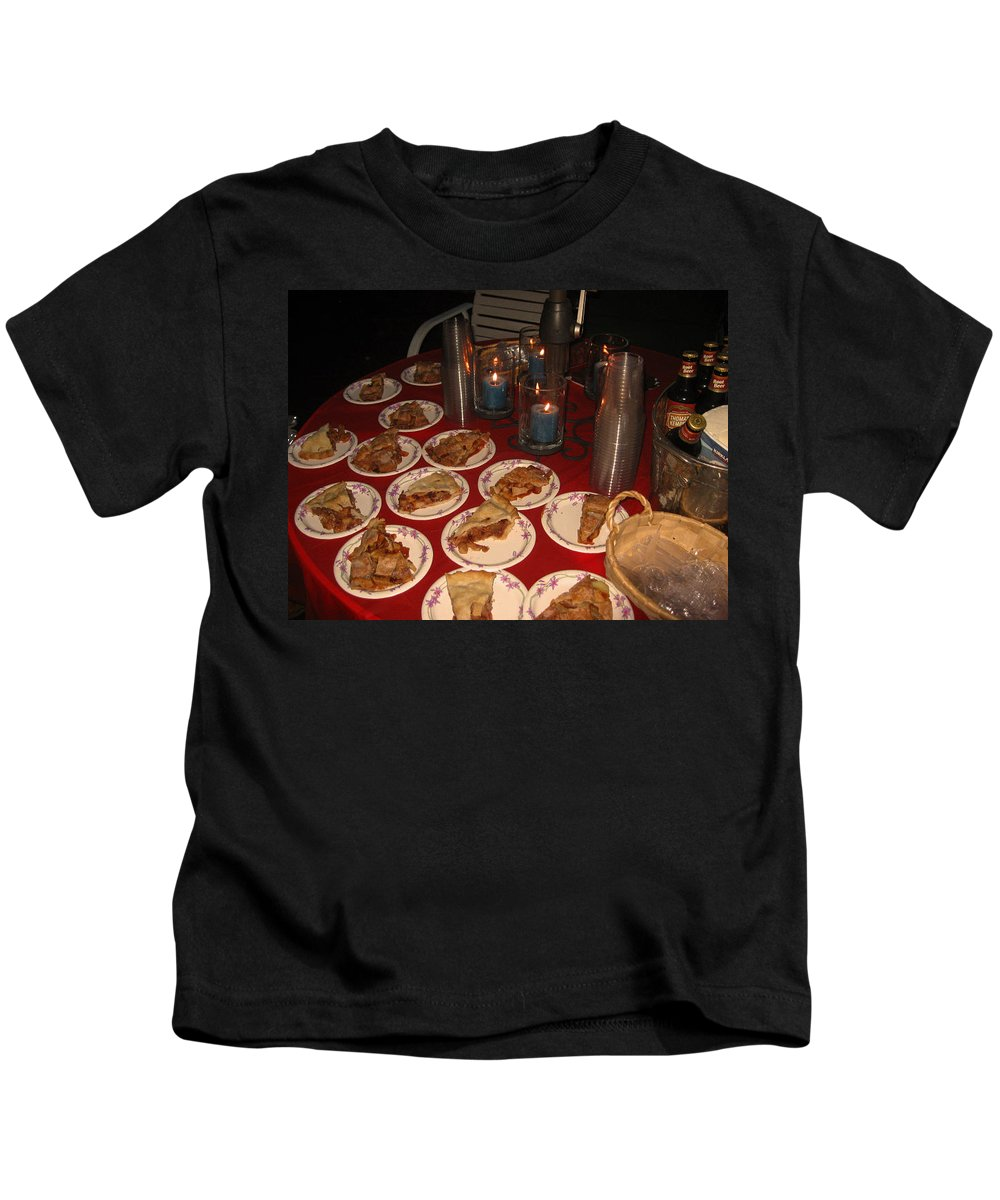 Plates Of Pie Kids T-Shirt featuring the photograph Pieces of PIE by Kym Backland