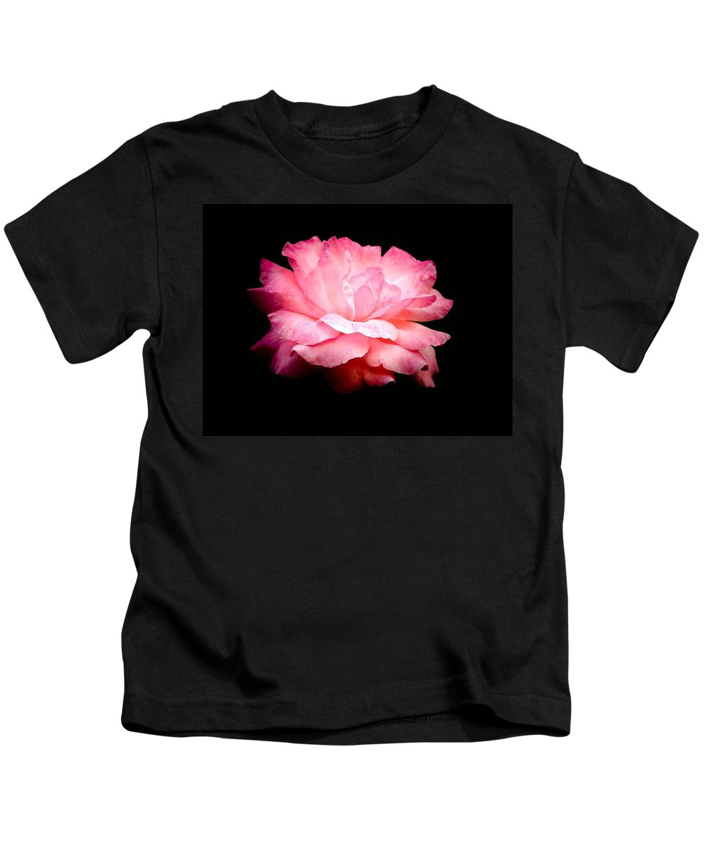 Rose Kids T-Shirt featuring the photograph Pink Petals by Trish Tritz