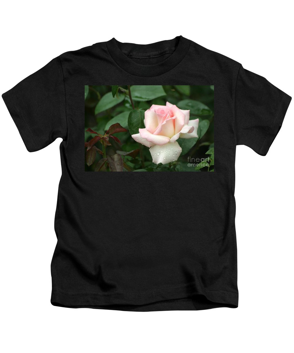Rose Kids T-Shirt featuring the photograph Pink Promise by Living Color Photography Lorraine Lynch