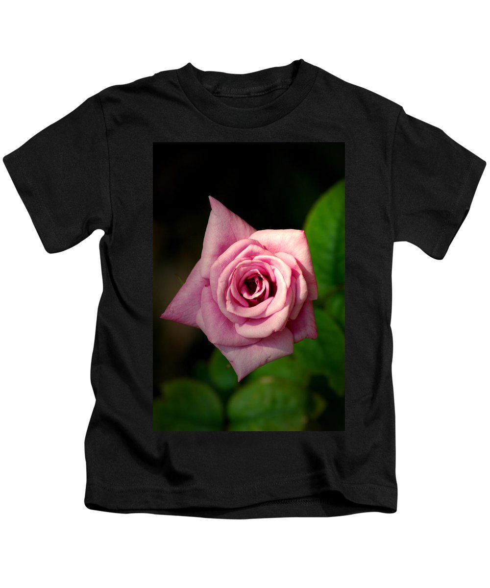 Flower Kids T-Shirt featuring the photograph Pink Rose by David Weeks