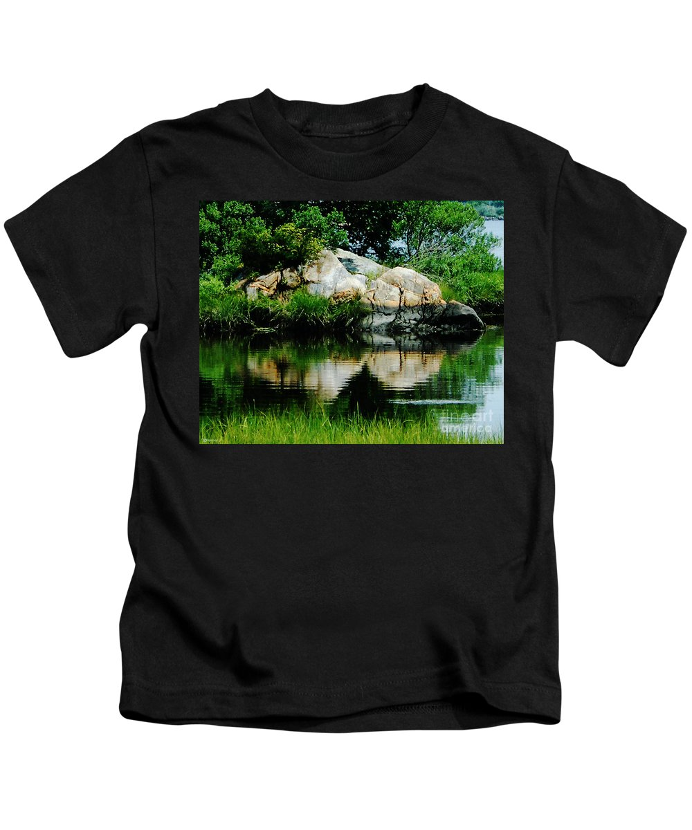 New England Kids T-Shirt featuring the photograph Pool In Marsh At Mystic Ct by Lizi Beard-Ward