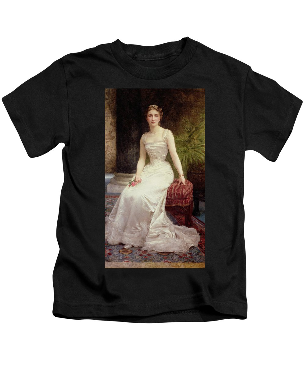 Portrait Of Madame Olry-roederer Kids T-Shirt featuring the painting Portrait Of Madame Olry-roederer by William-Adolphe Bouguereau