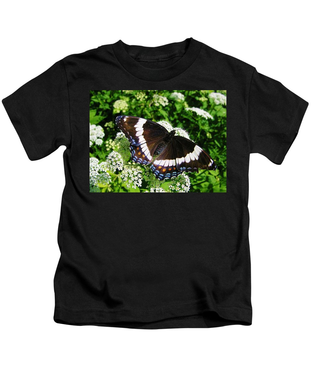 Butterfly Kids T-Shirt featuring the photograph Posing Butterfly by Sherman Perry