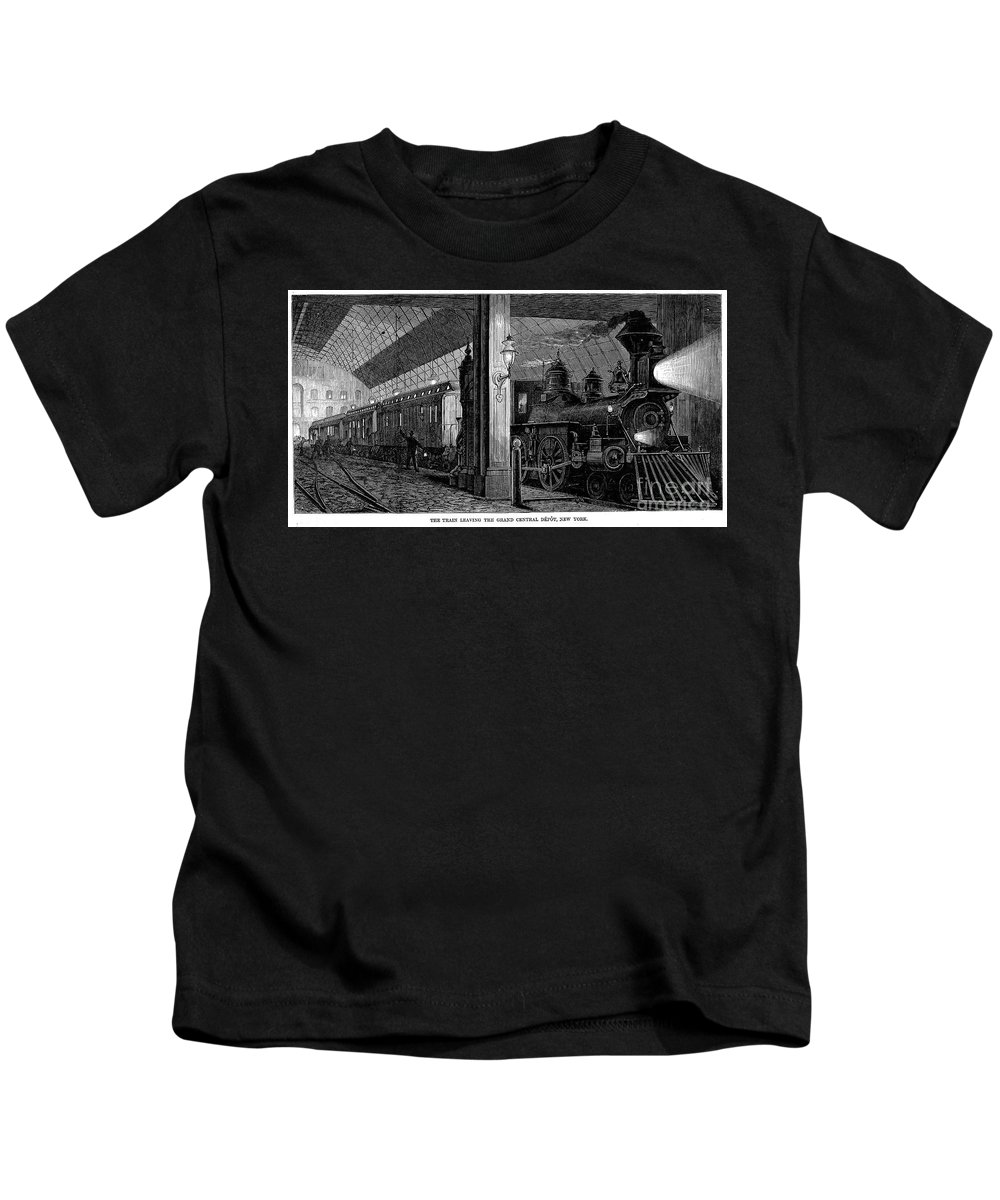 1875 Kids T-Shirt featuring the photograph Postal Service, 1875 by Granger