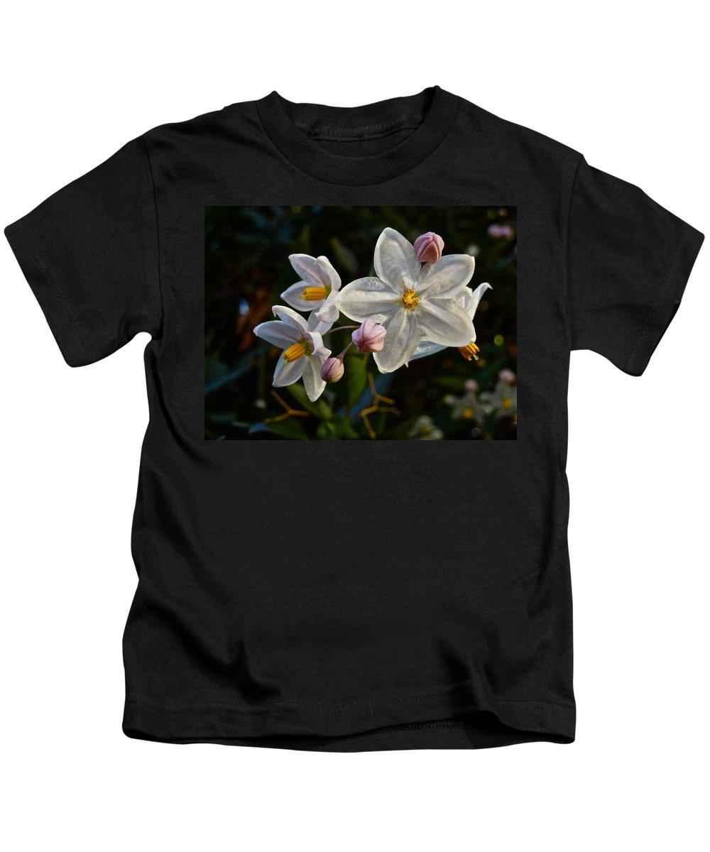 Flower Kids T-Shirt featuring the photograph Potato Vine Blossom by Diana Hatcher