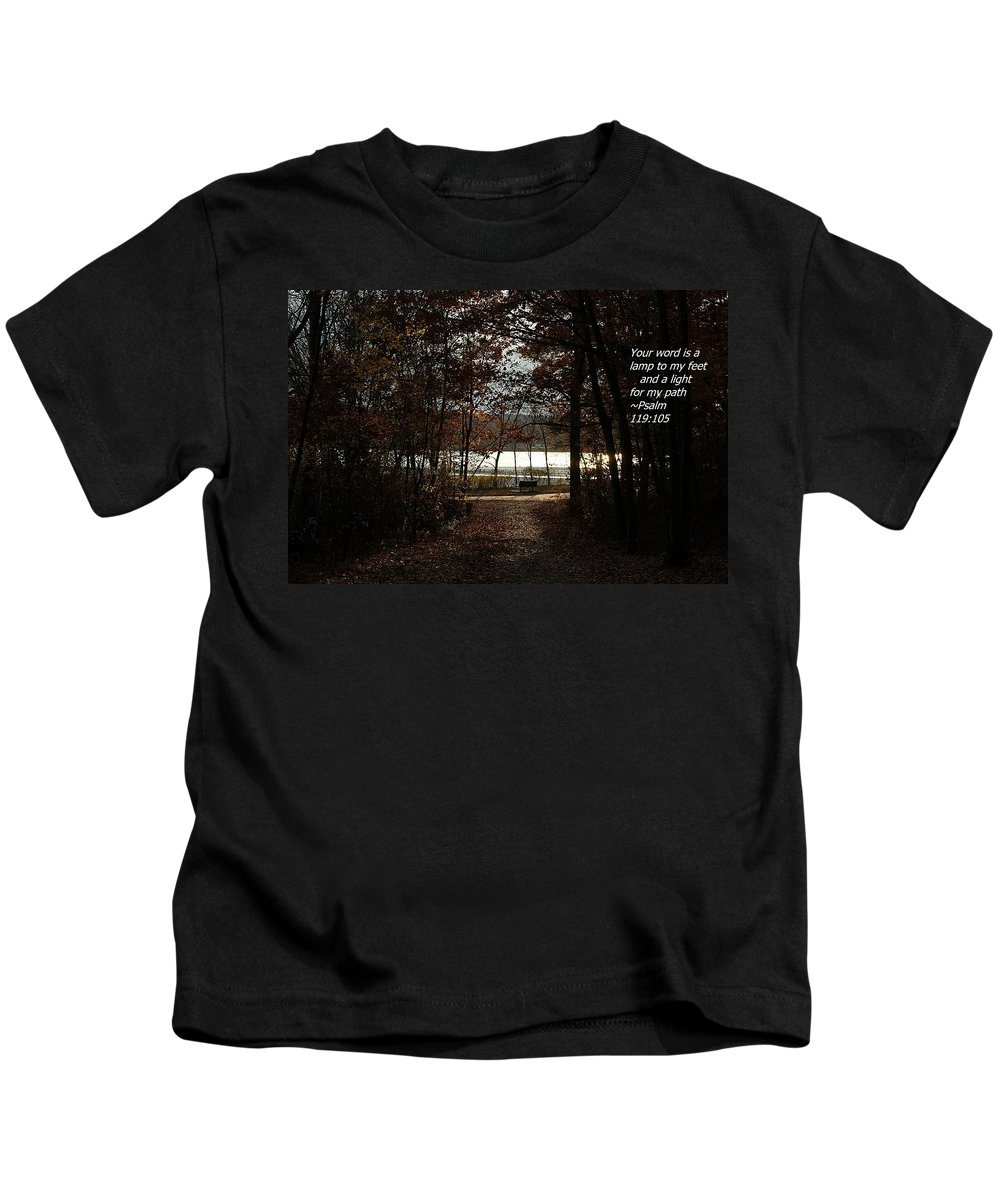 Psalm Kids T-Shirt featuring the photograph Psalm 119 V106 by Joe Faherty