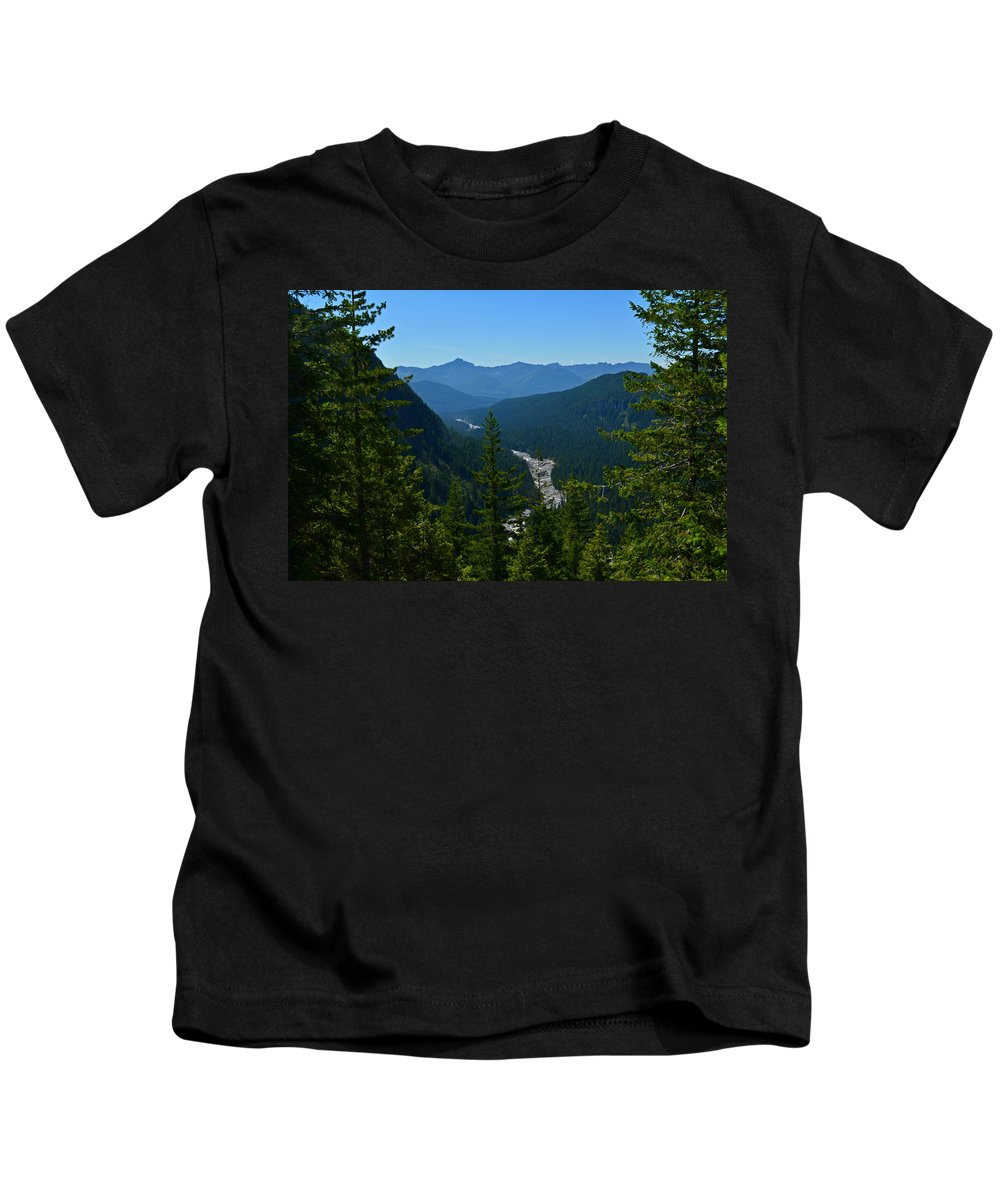 Valley Kids T-Shirt featuring the photograph Rainier Valley by Tikvah's Hope