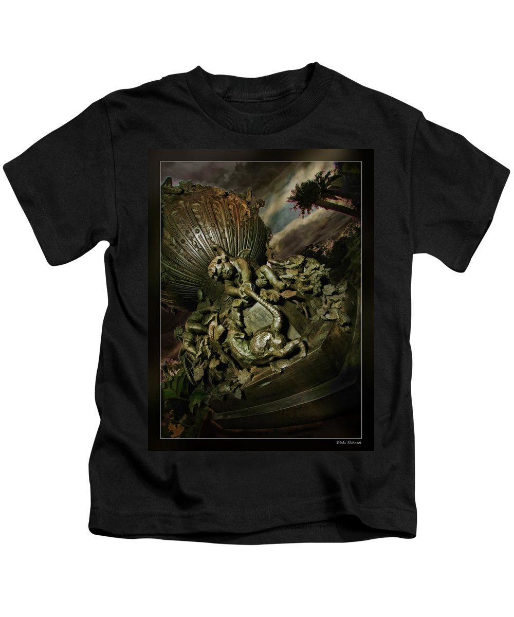 Art Photography Kids T-Shirt featuring the photograph Rat By The Tail by Blake Richards