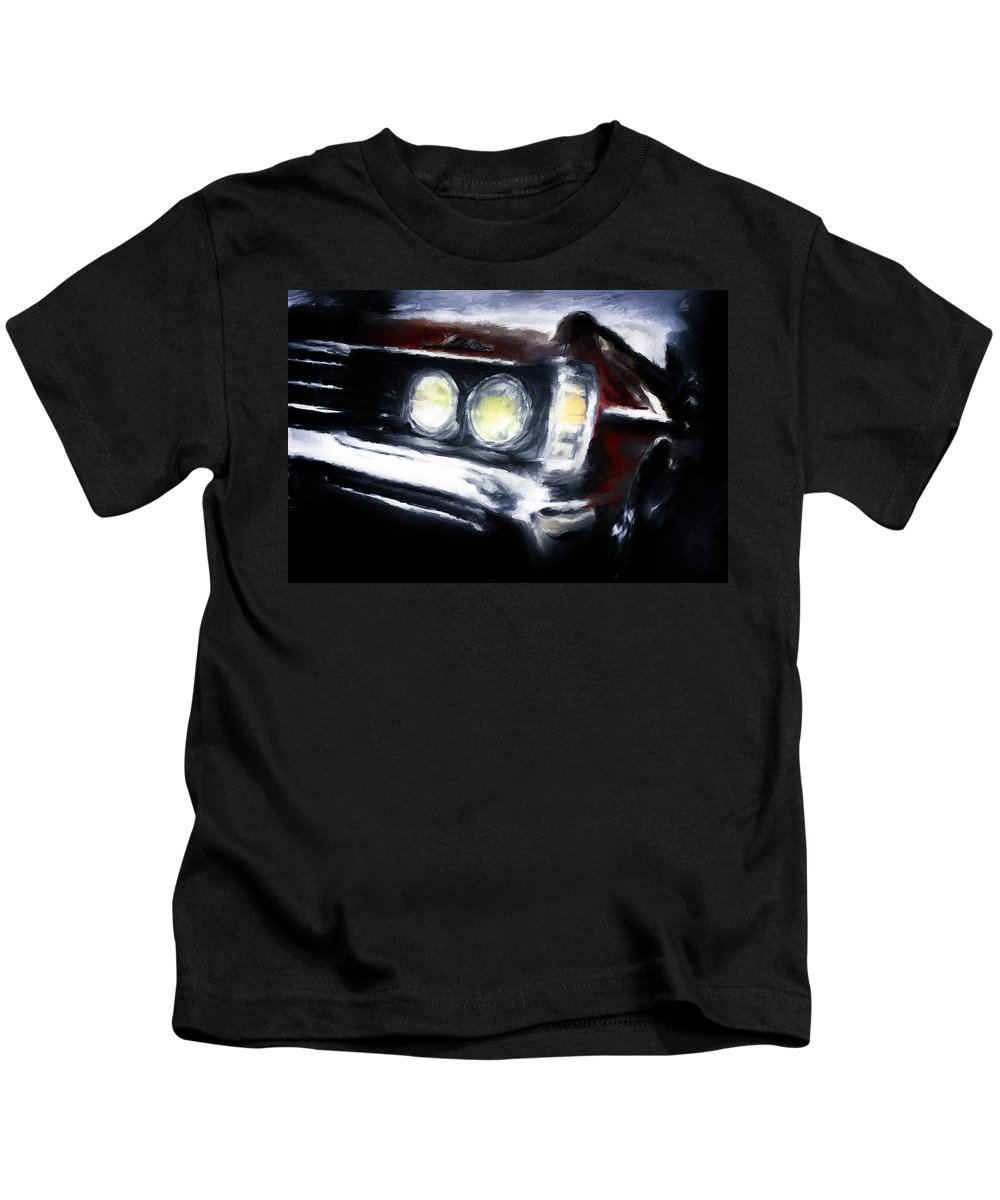 Red Kids T-Shirt featuring the digital art Red Car by Diane Dugas