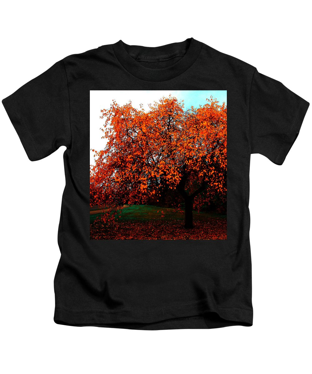 Red Head Kids T-Shirt featuring the photograph Red Head by The Artist Project