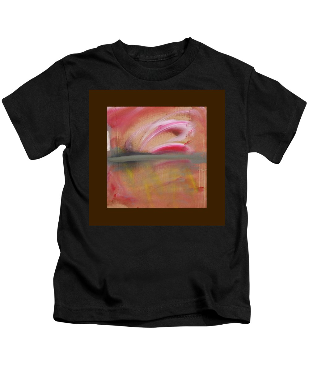 Tsunami Kids T-Shirt featuring the painting Red Tide by Charles Stuart
