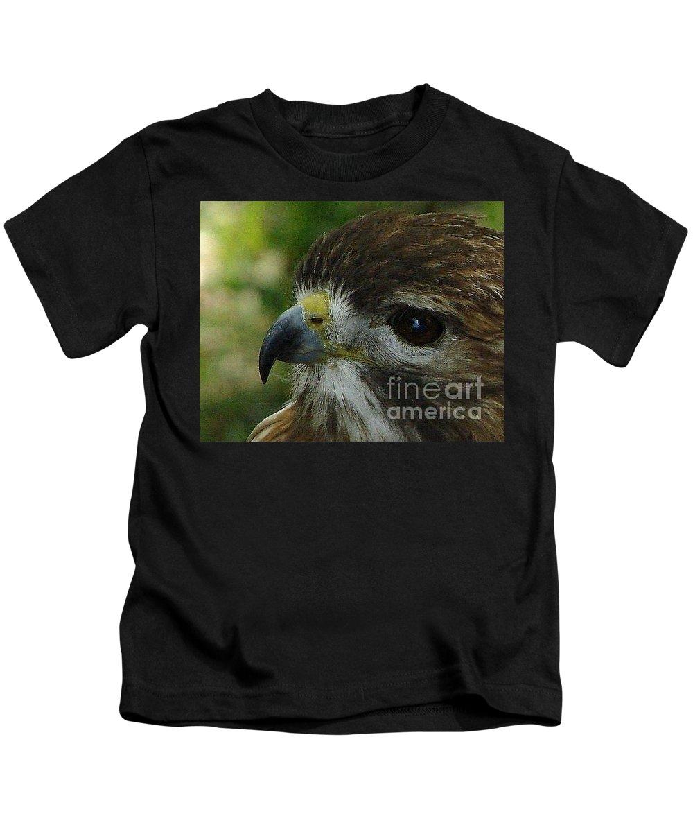 Redtail Kids T-Shirt featuring the photograph Redtail Hawk by Priscilla Richardson