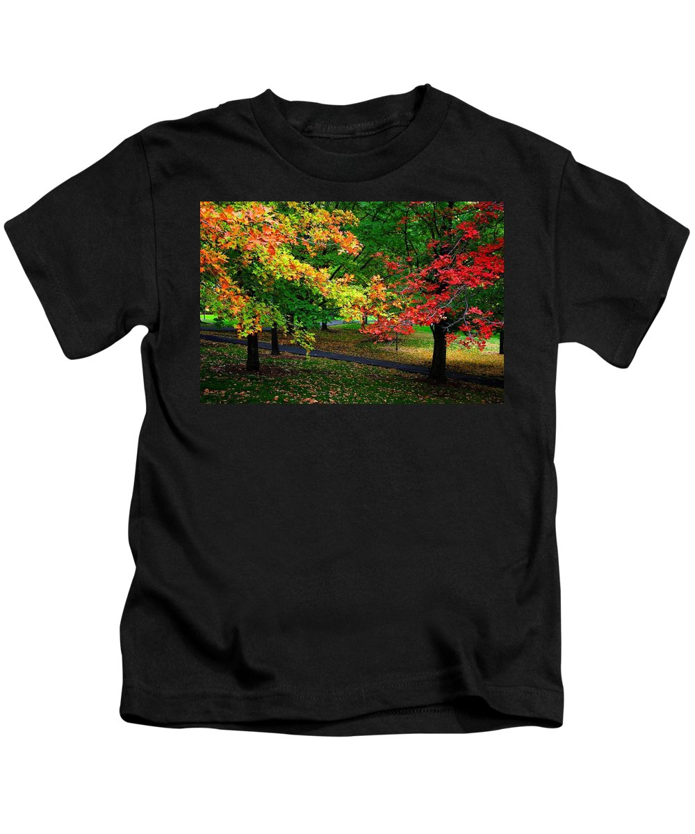 Reno Kids T-Shirt featuring the photograph Reno Park - Autumn by Jim Robbins