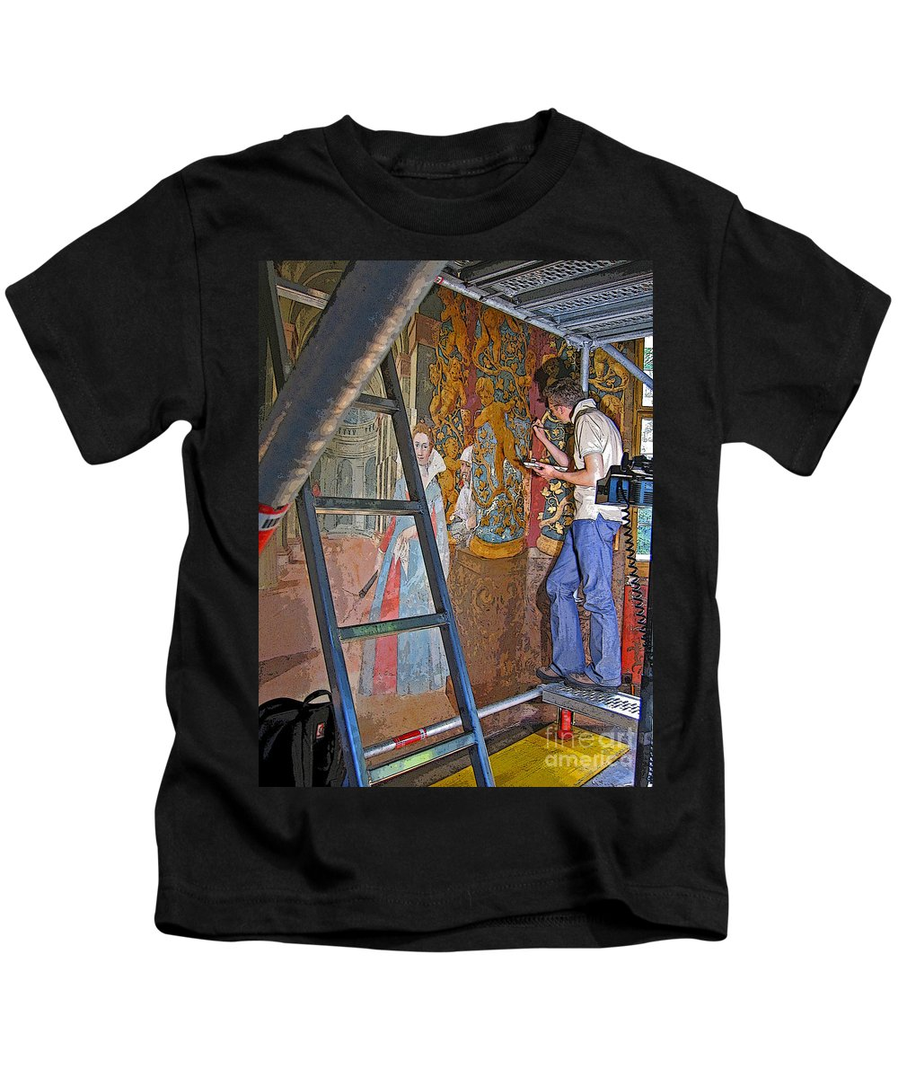 Art Kids T-Shirt featuring the photograph Restoring Art by Ann Horn