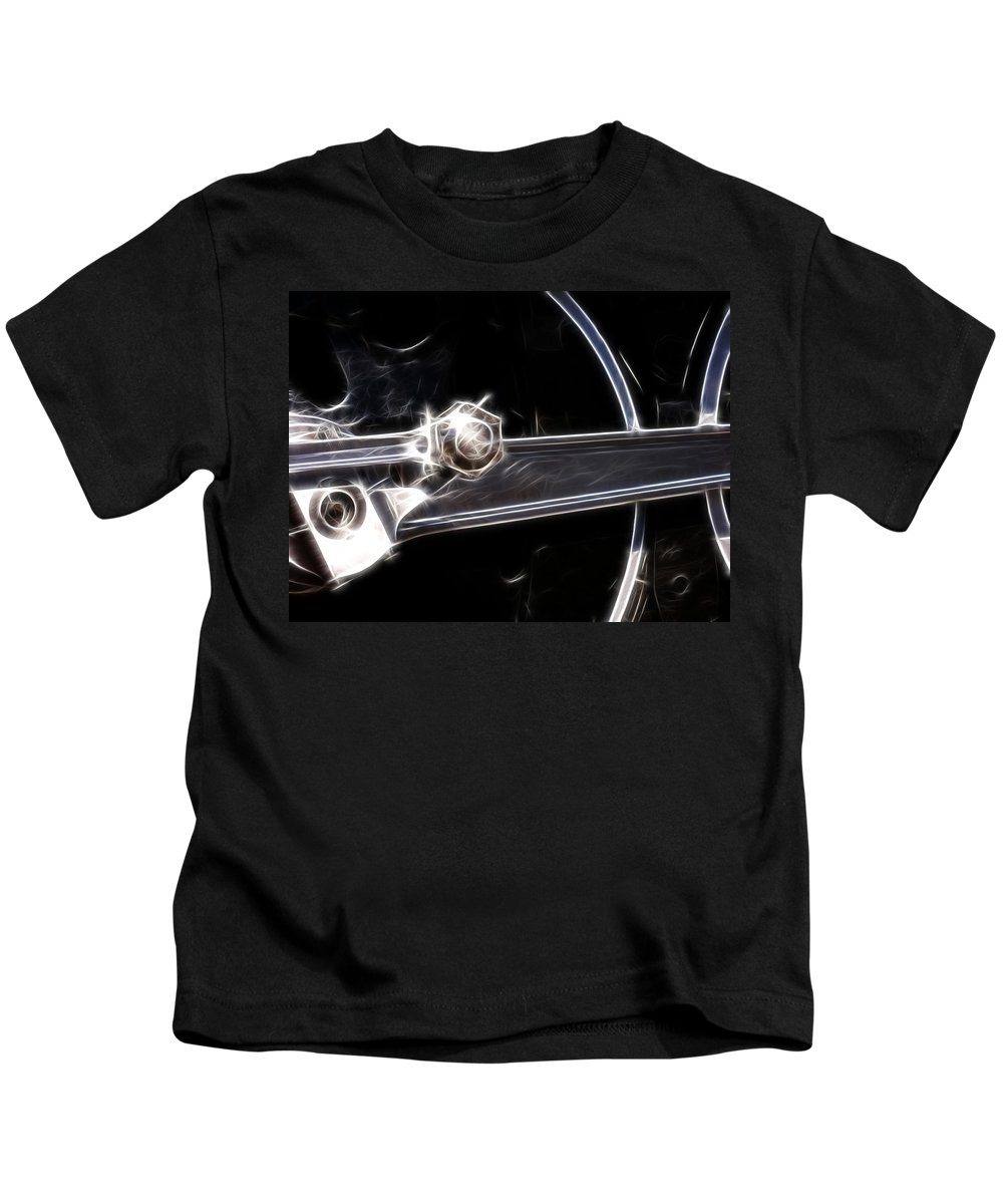 Train Kids T-Shirt featuring the digital art Right On Track by Adam Vance