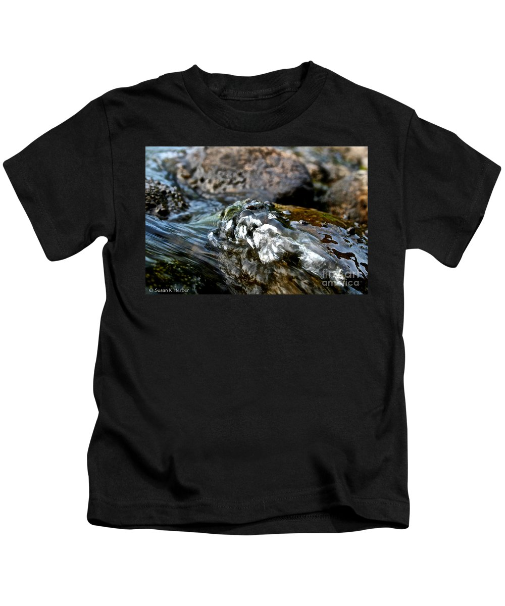 Outdoors Kids T-Shirt featuring the photograph River Rock by Susan Herber