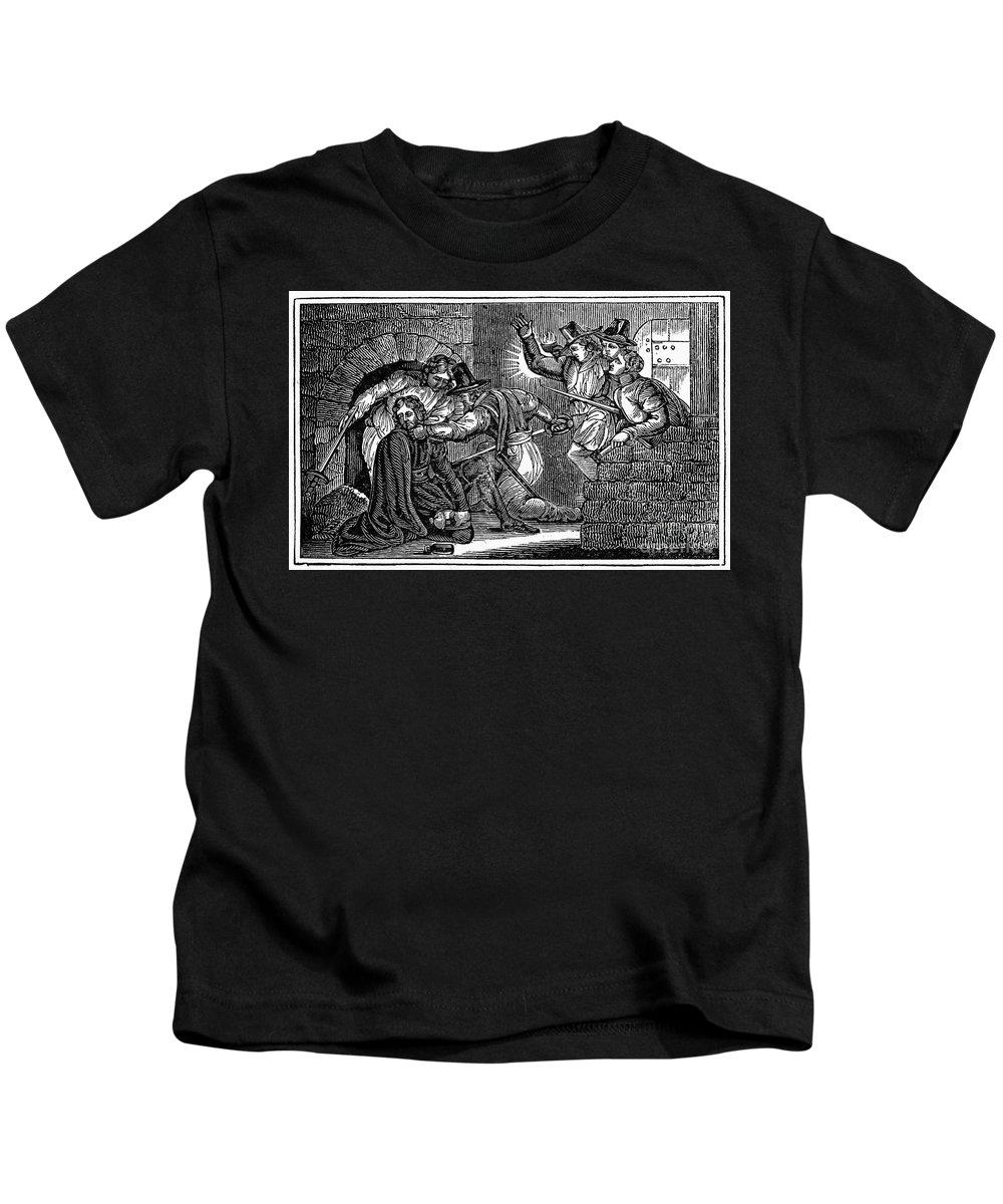 1605 Kids T-Shirt featuring the photograph Robert Catesby (1573-1605) by Granger