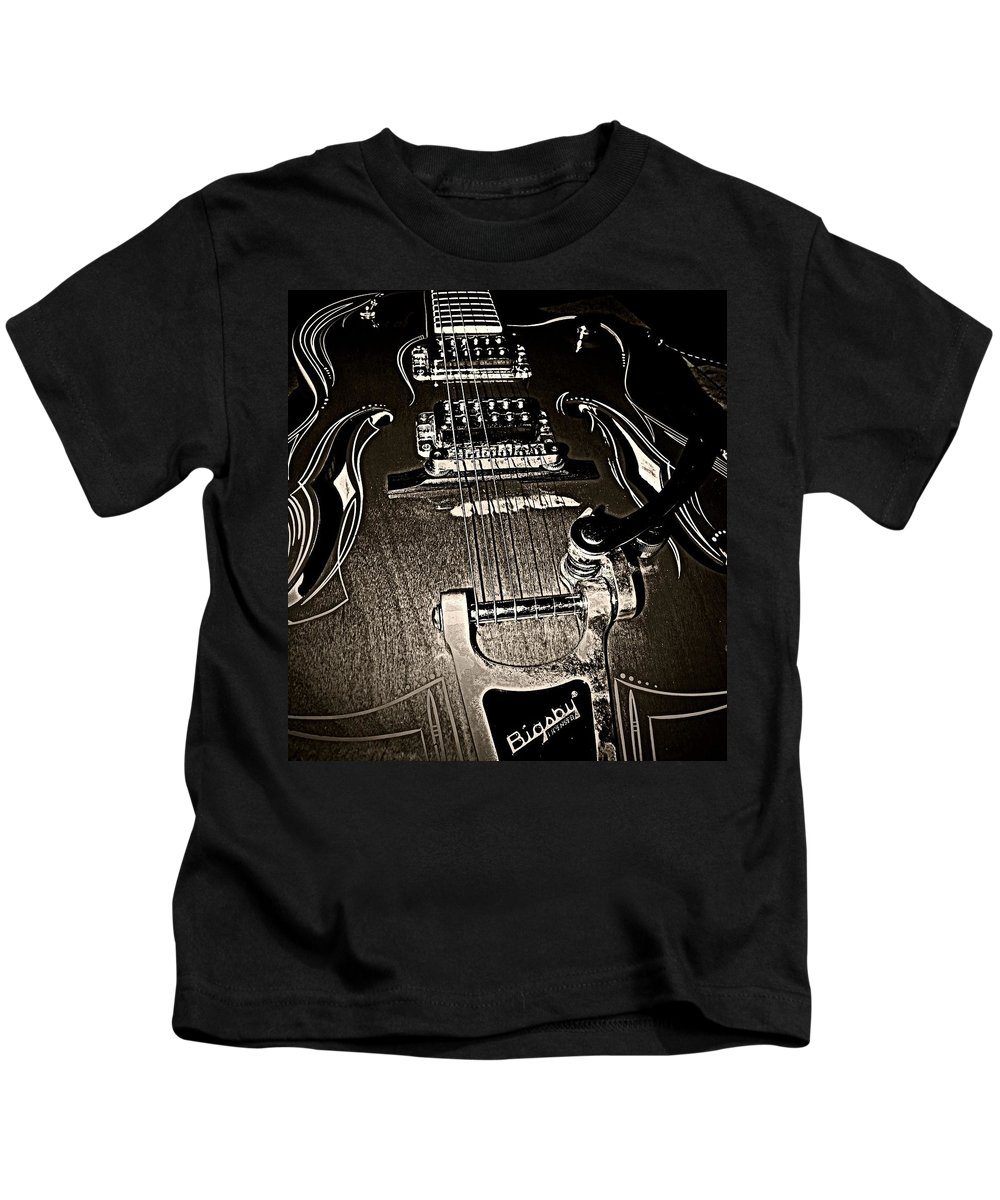 Musical Kids T-Shirt featuring the photograph Rockabilly by Chris Berry