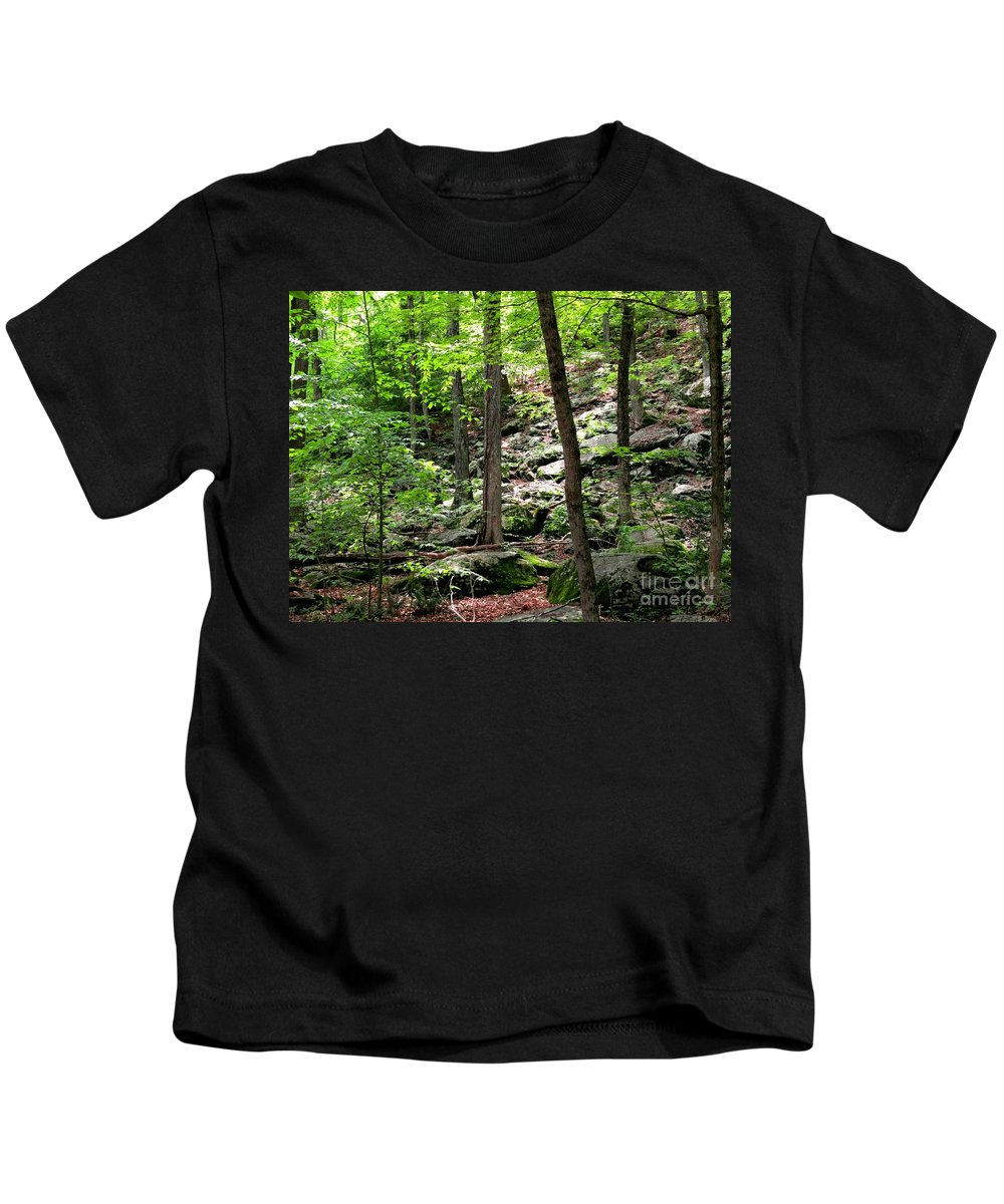 Forest Kids T-Shirt featuring the photograph Rocky Forest Of Chatfield by Meandering Photography