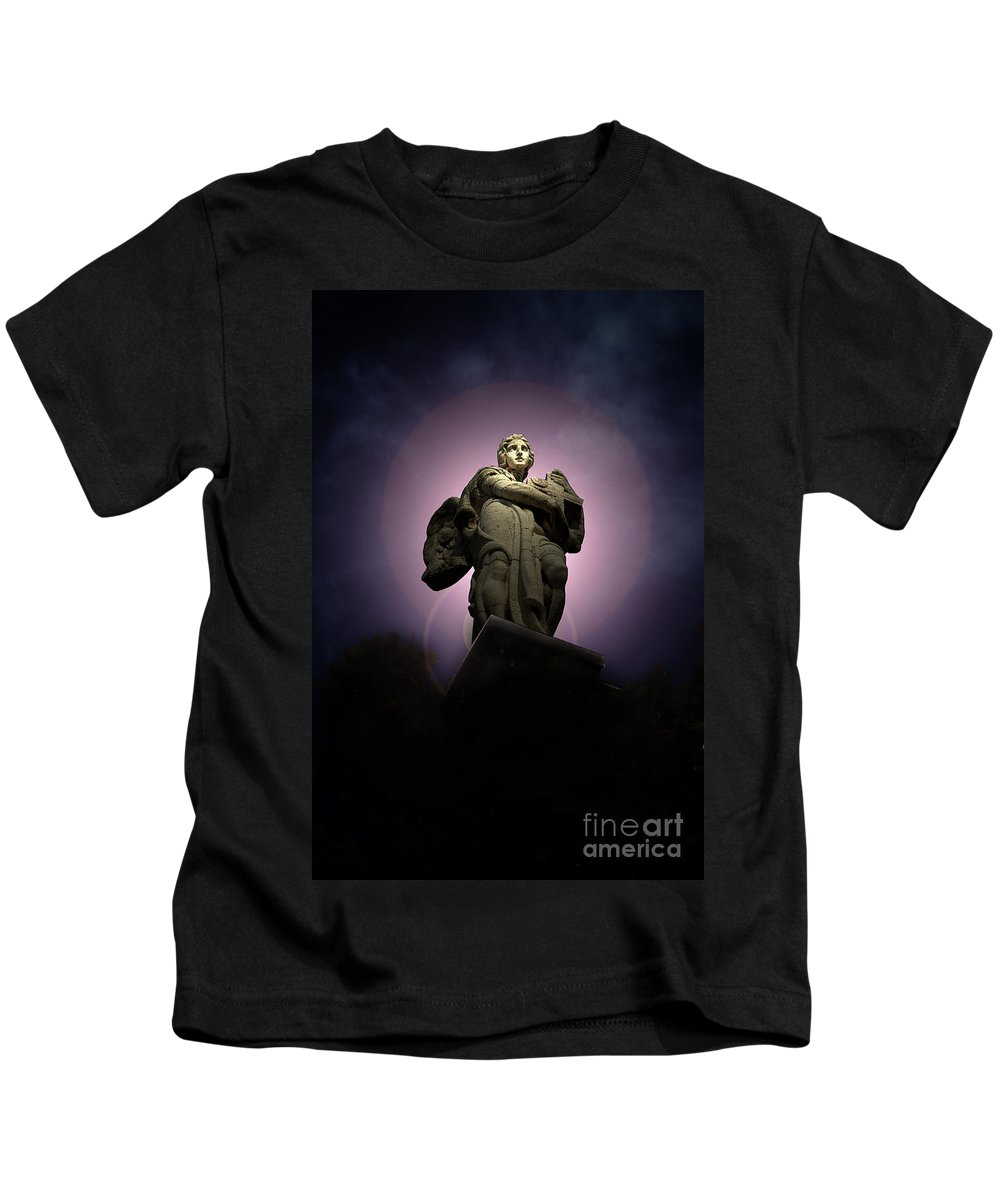 Rome Kids T-Shirt featuring the photograph Roman Statue 3 Rome Italy by Mike Nellums