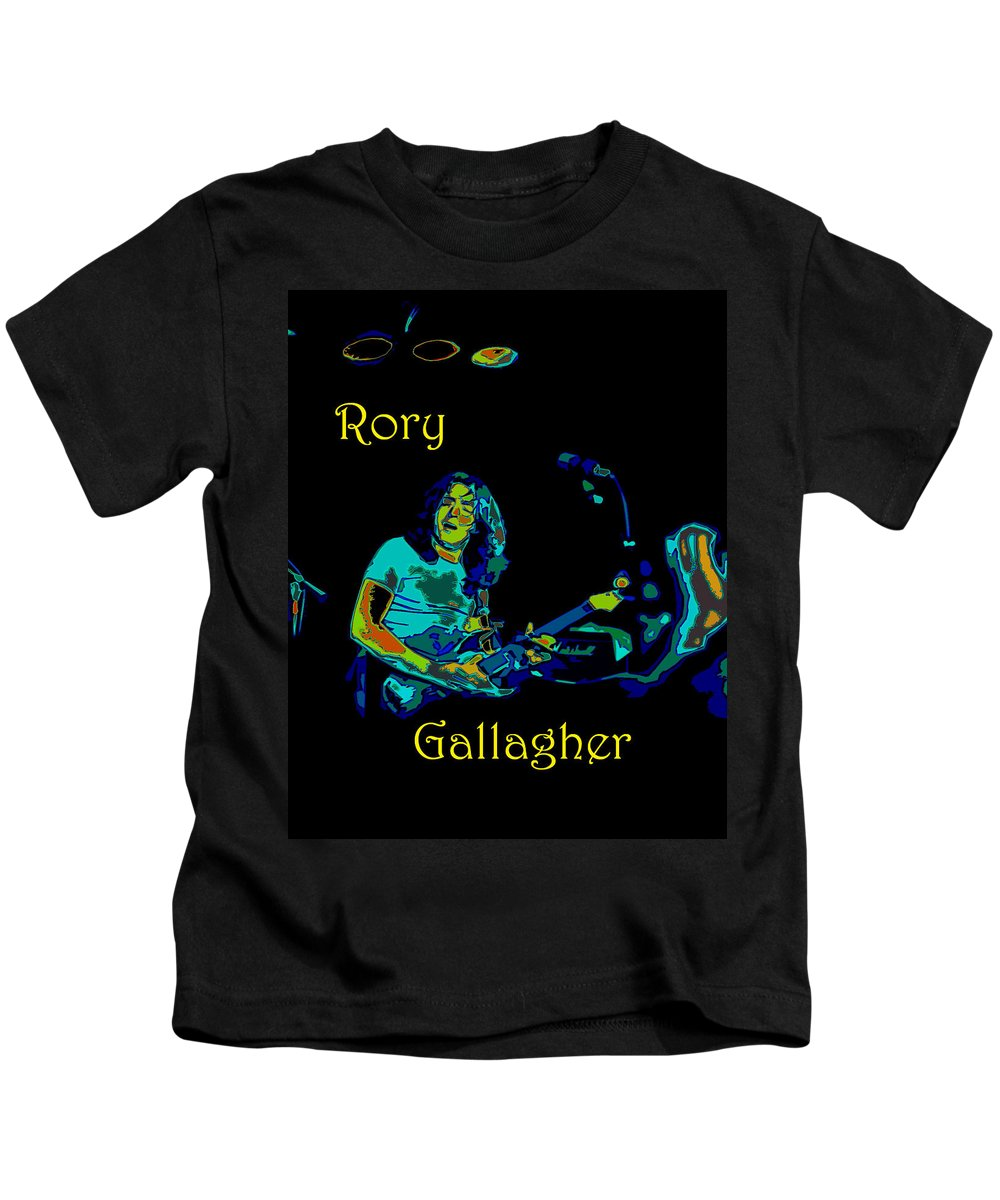 Rock Musicians Kids T-Shirt featuring the photograph Finding The Cosmic Notes 3 by Ben Upham