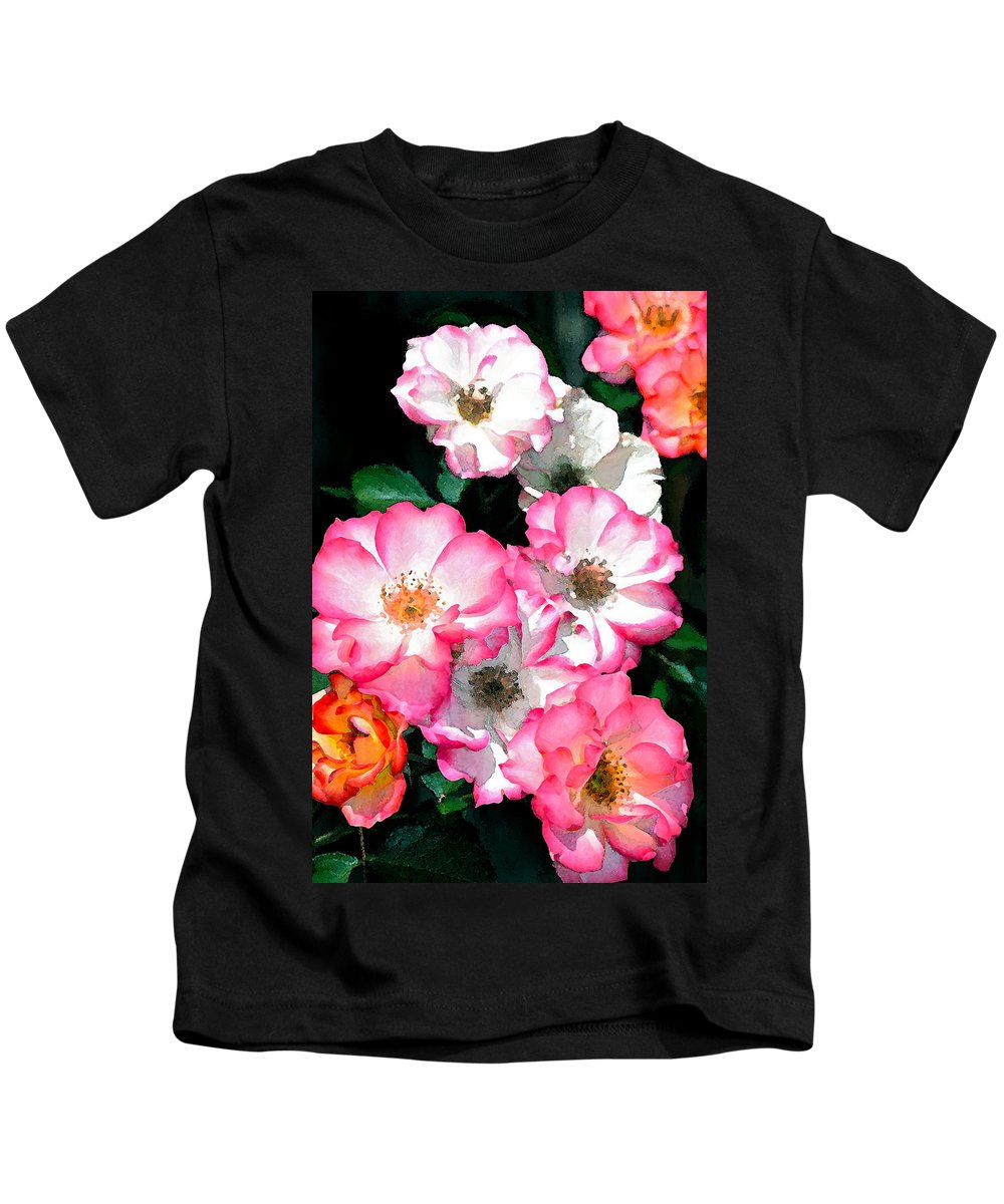 Floral Kids T-Shirt featuring the photograph Rose 133 by Pamela Cooper