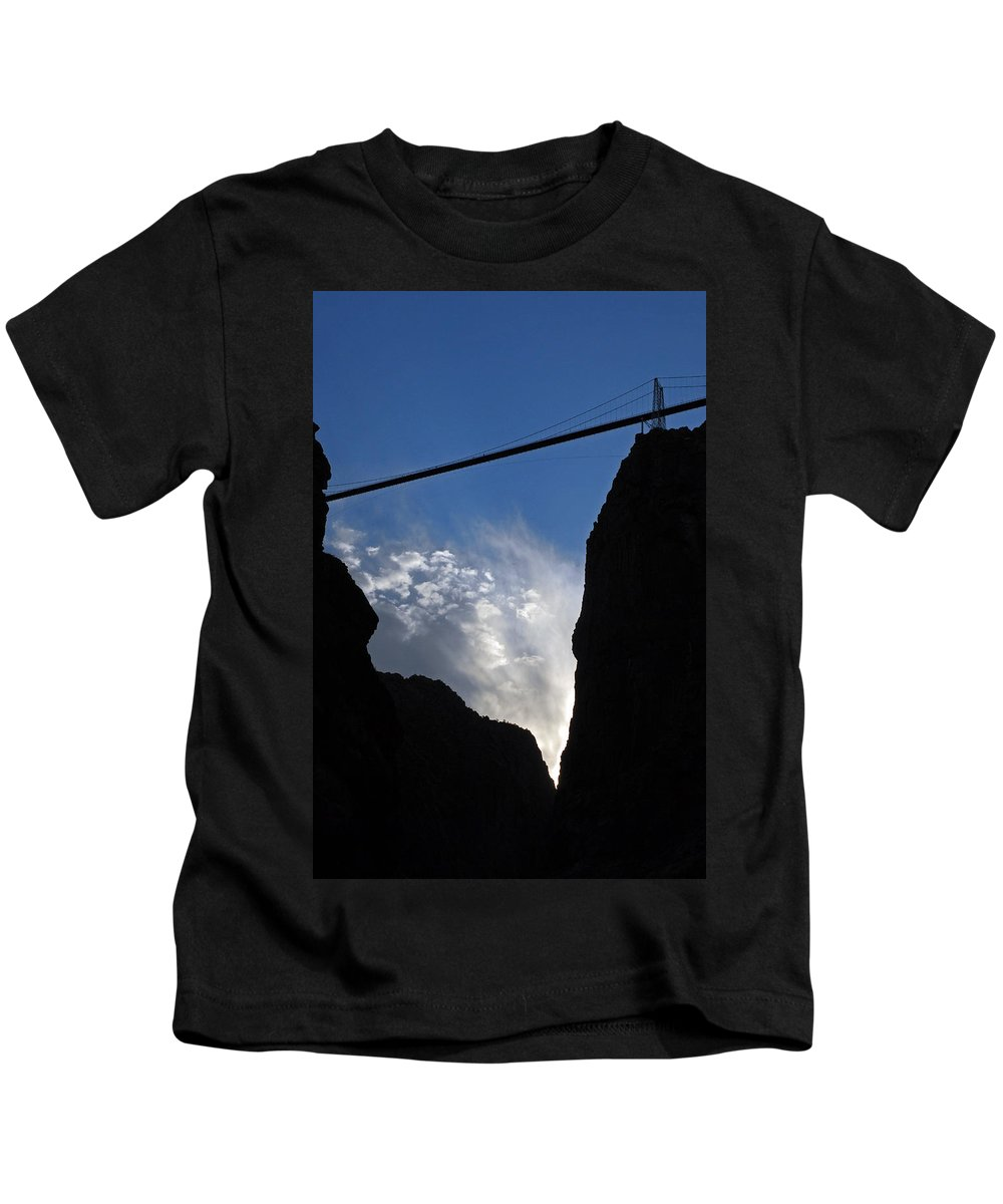 Royal Gorge Bridge Kids T-Shirt featuring the photograph Royal Gorge Bridge And Sky by Robert Meyers-Lussier