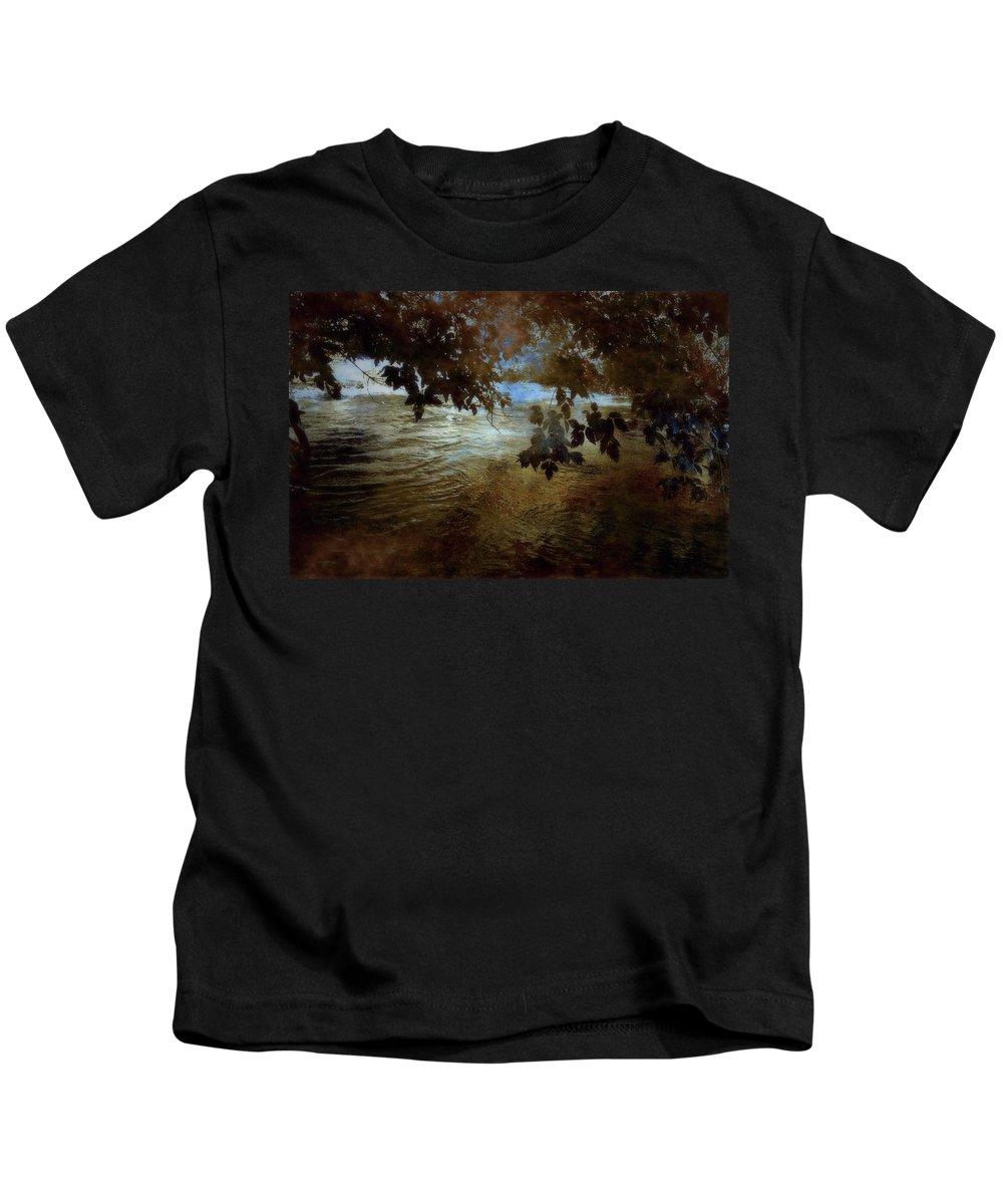 River Kids T-Shirt featuring the photograph Sanctuary By The River by Ellen Heaverlo