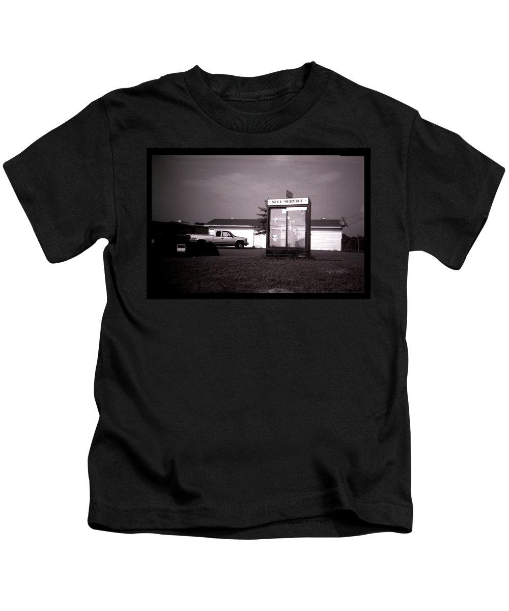 Louisiana Kids T-Shirt featuring the photograph Self Service- Winnsboro Road- La Hwy 15 by Doug Duffey