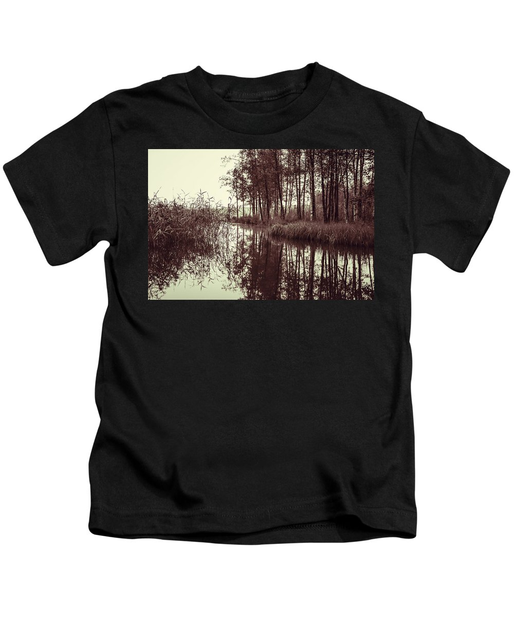 September Kids T-Shirt featuring the photograph September Morning by Ari Salmela