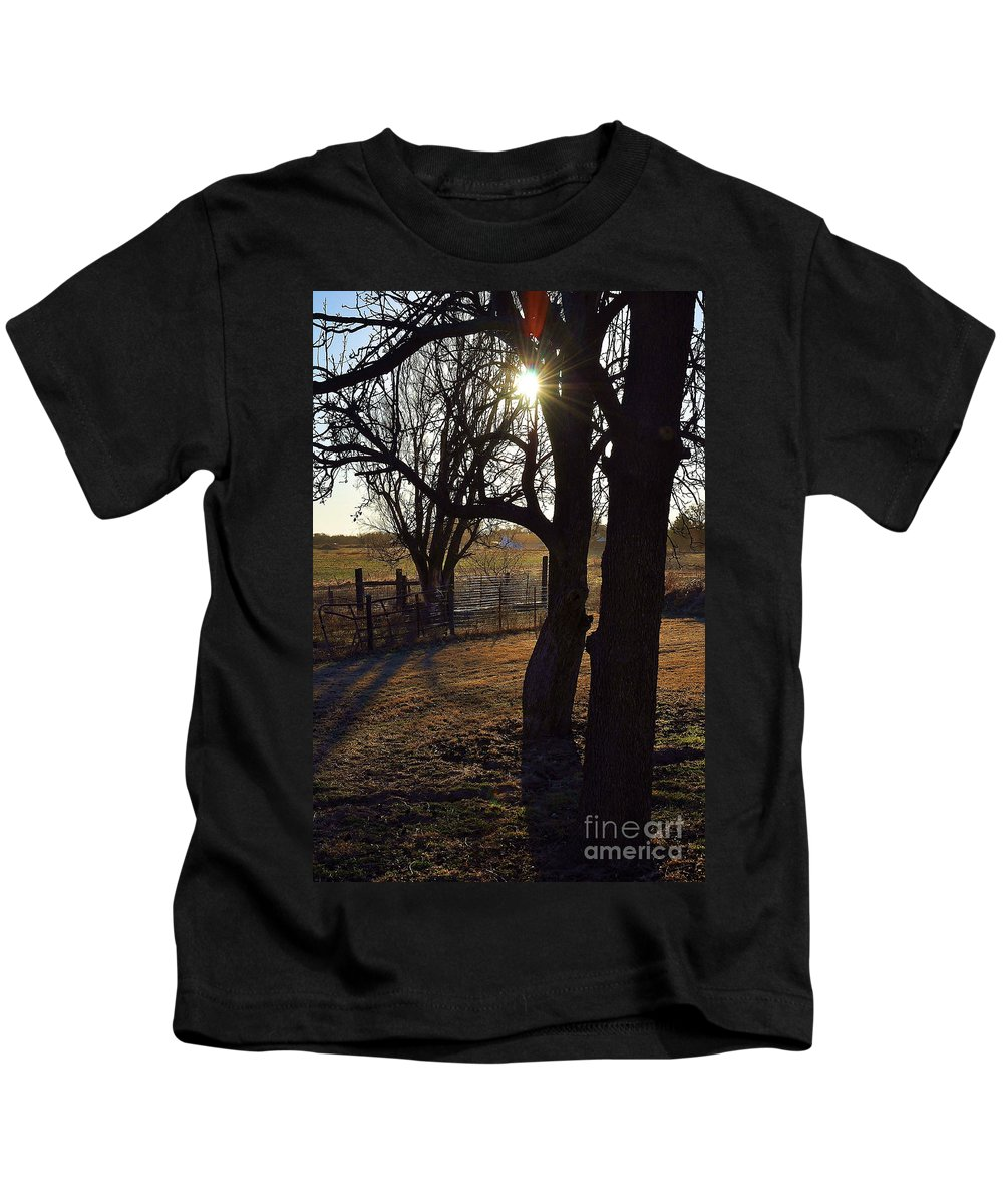 Shadow Kids T-Shirt featuring the photograph Shadows And Sun by Anjanette Douglas
