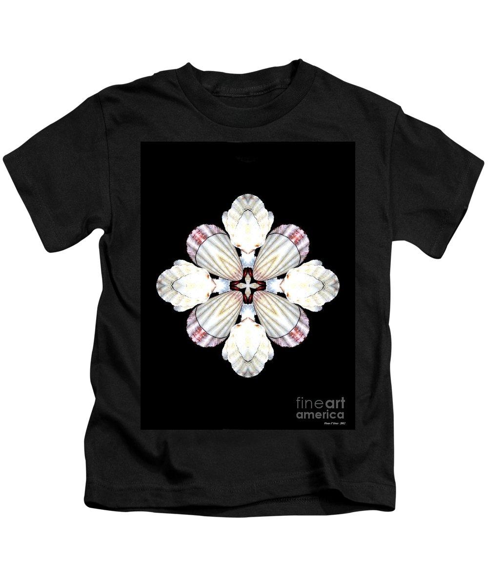 Shell Art Kids T-Shirt featuring the digital art Shell Art 2 by Maria Urso