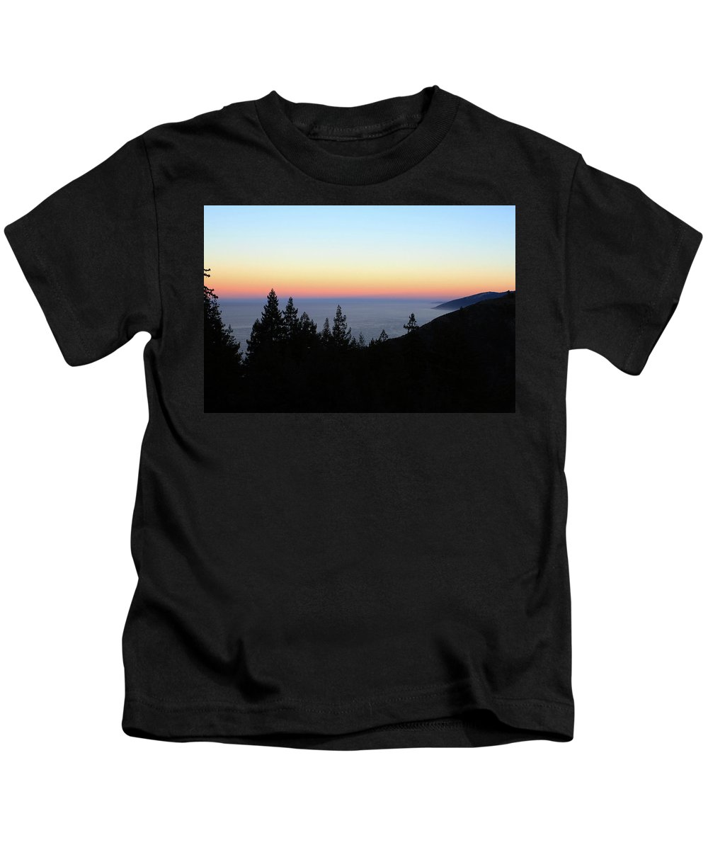 Sunset Kids T-Shirt featuring the photograph Sherbet Sunset Big Sur by Lorraine Devon Wilke