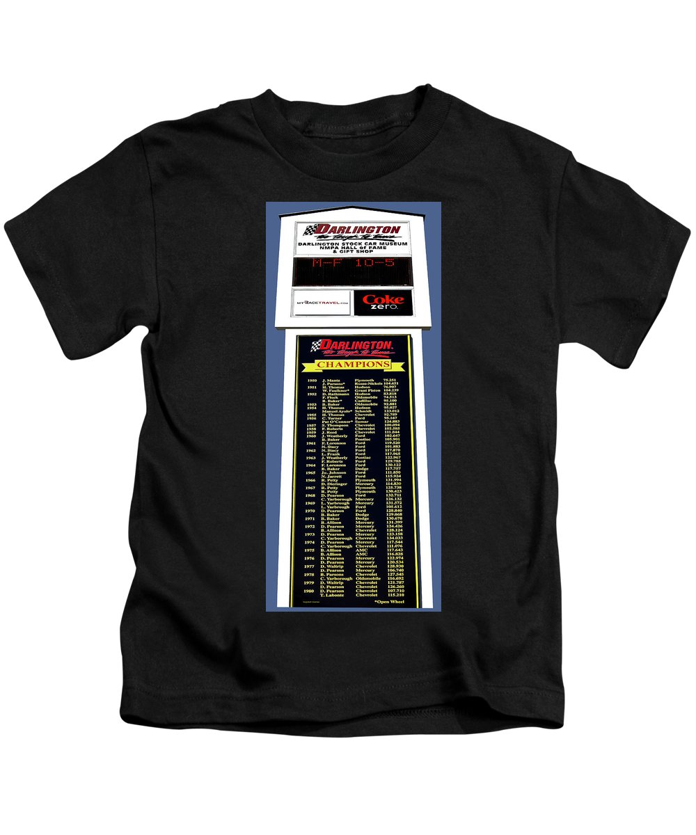 Nascar Kids T-Shirt featuring the photograph Sign Of Champions by DigiArt Diaries by Vicky B Fuller