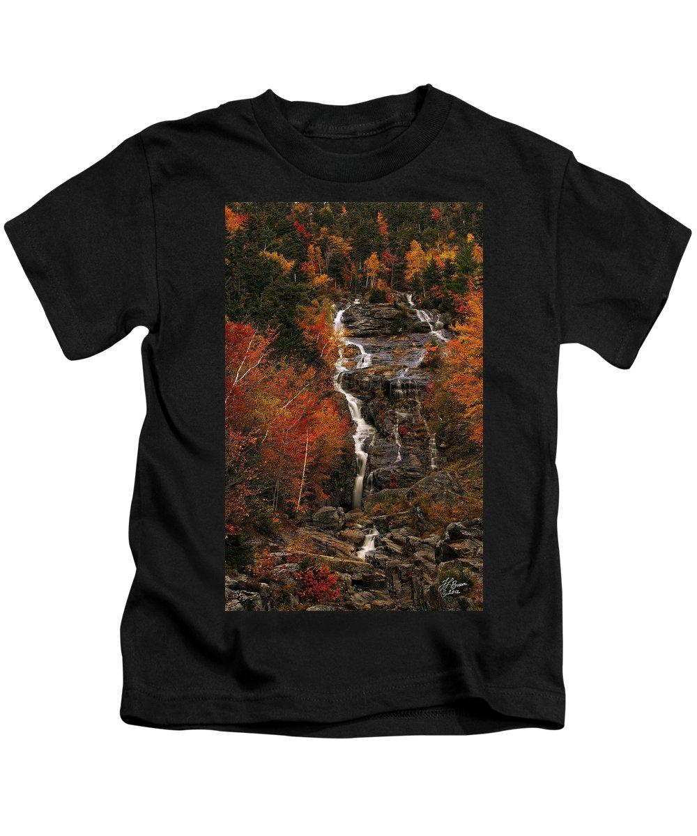 Waterfall Kids T-Shirt featuring the photograph Silver Cascade by Tamara Brown