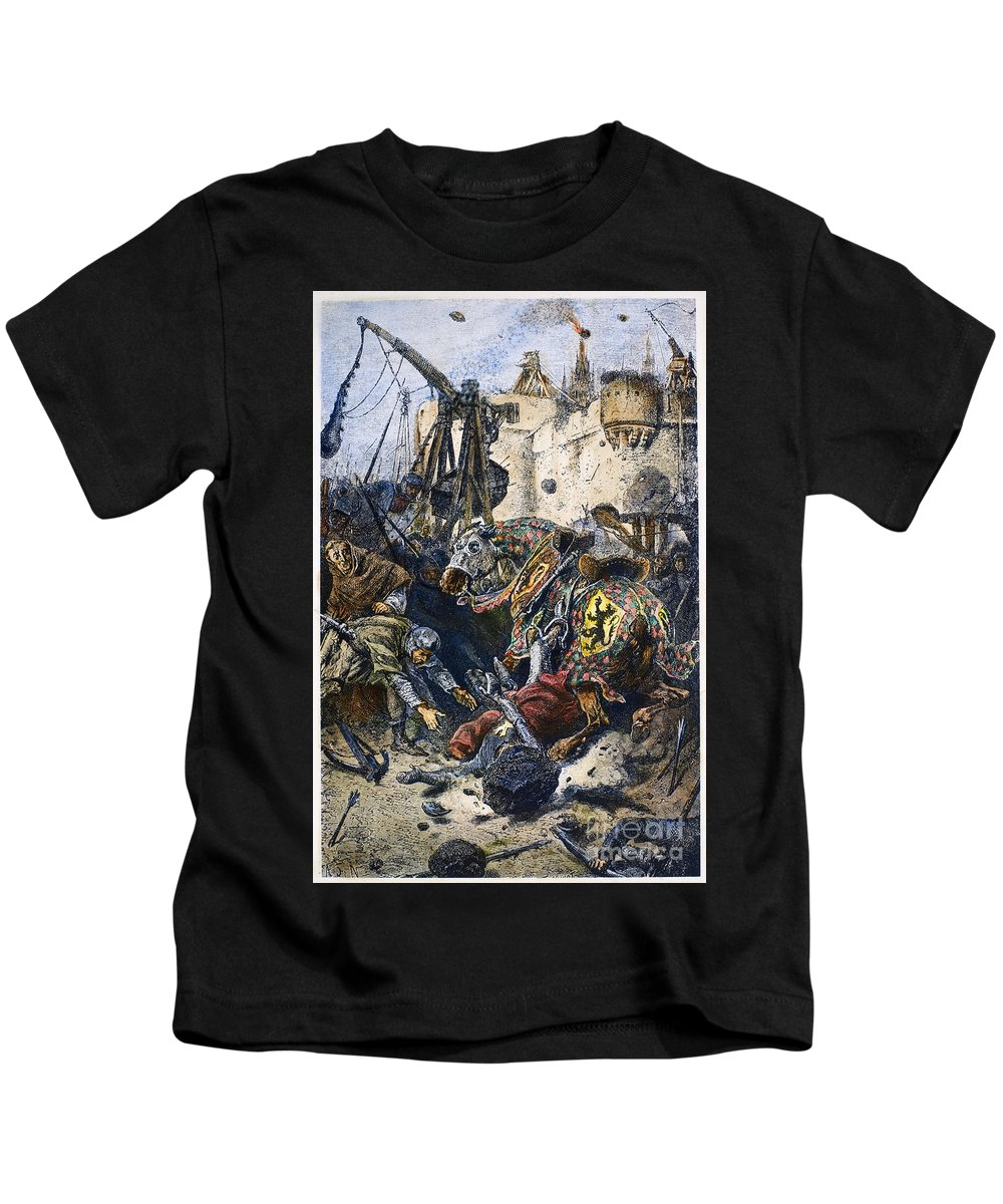 1218 Kids T-Shirt featuring the photograph Simon De Montfort by Granger