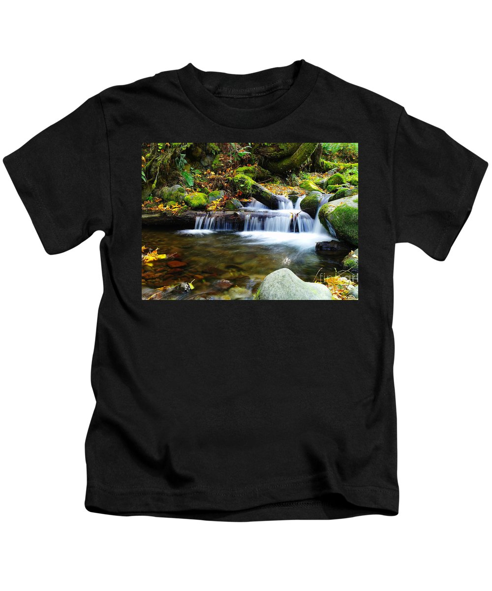 Water Kids T-Shirt featuring the photograph Simple Pools by Jeff Swan