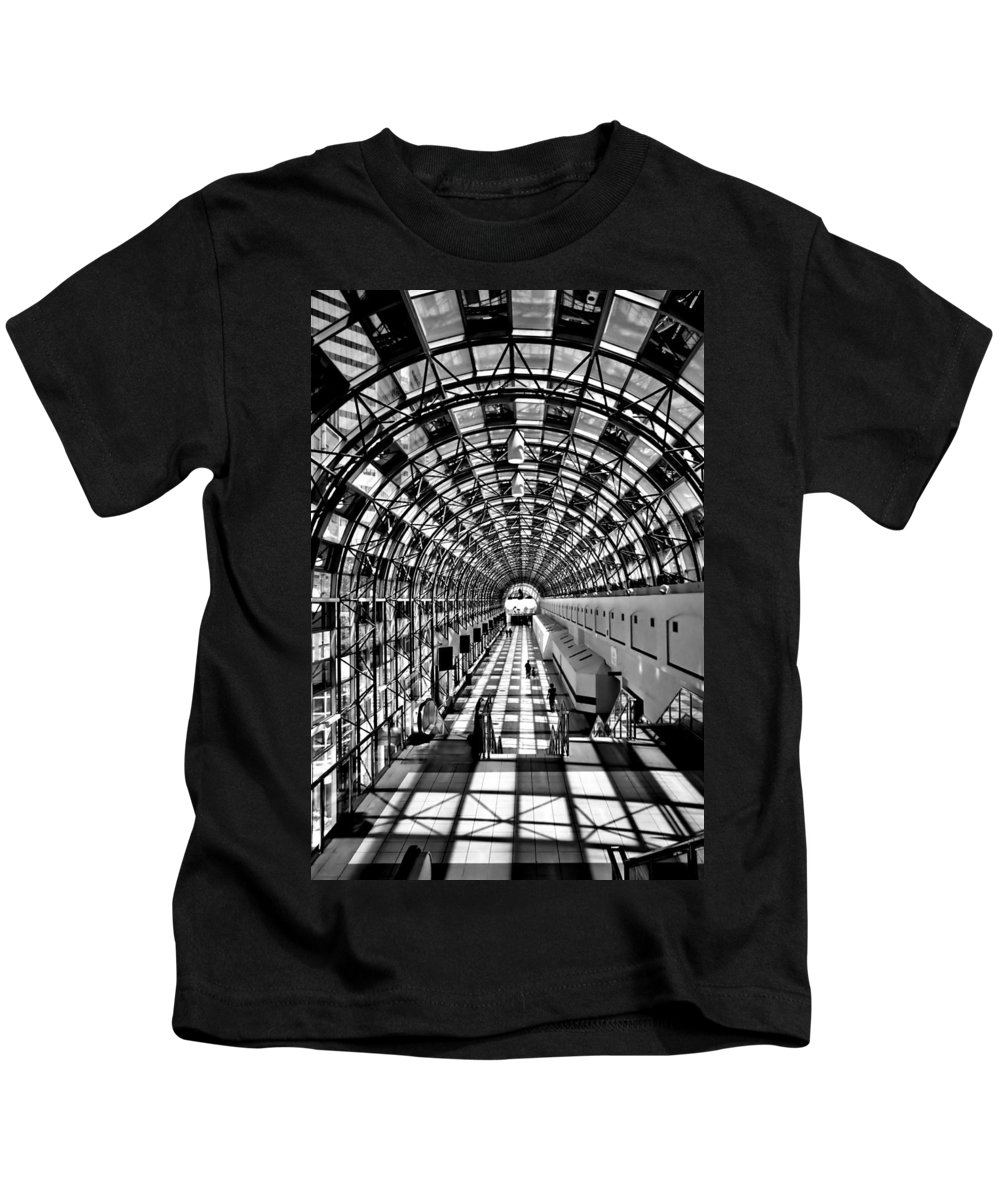 Toronto Skywalk Kids T-Shirt featuring the photograph Skywalk by Andrew Fare