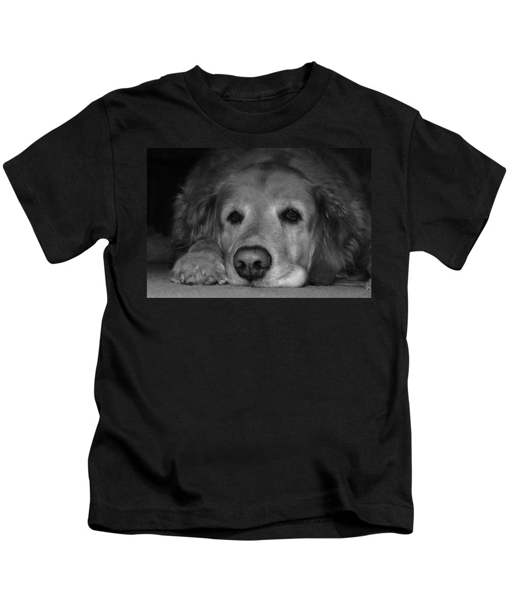 Sleep Kids T-Shirt featuring the photograph Sleepy by Todd Hostetter