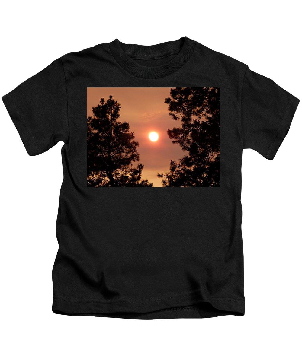Smoke Screen Kids T-Shirt featuring the photograph Smoke Screen by Will Borden