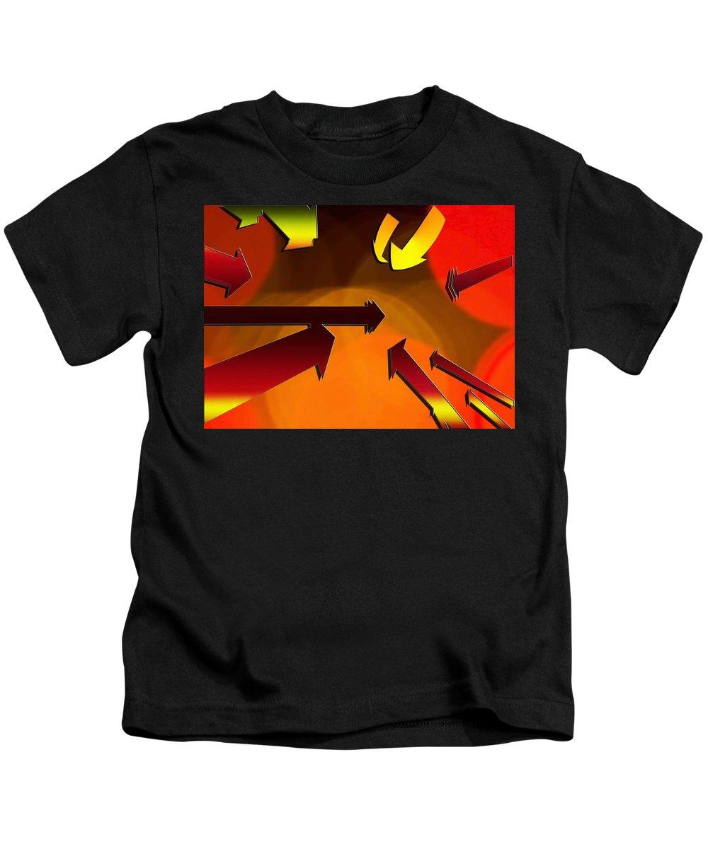 Social Kids T-Shirt featuring the digital art Socializing Arrows by Susan Leggett