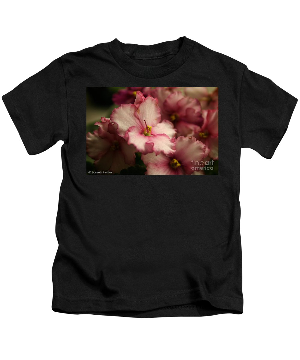Kids T-Shirt featuring the photograph Soft Ruffles by Susan Herber