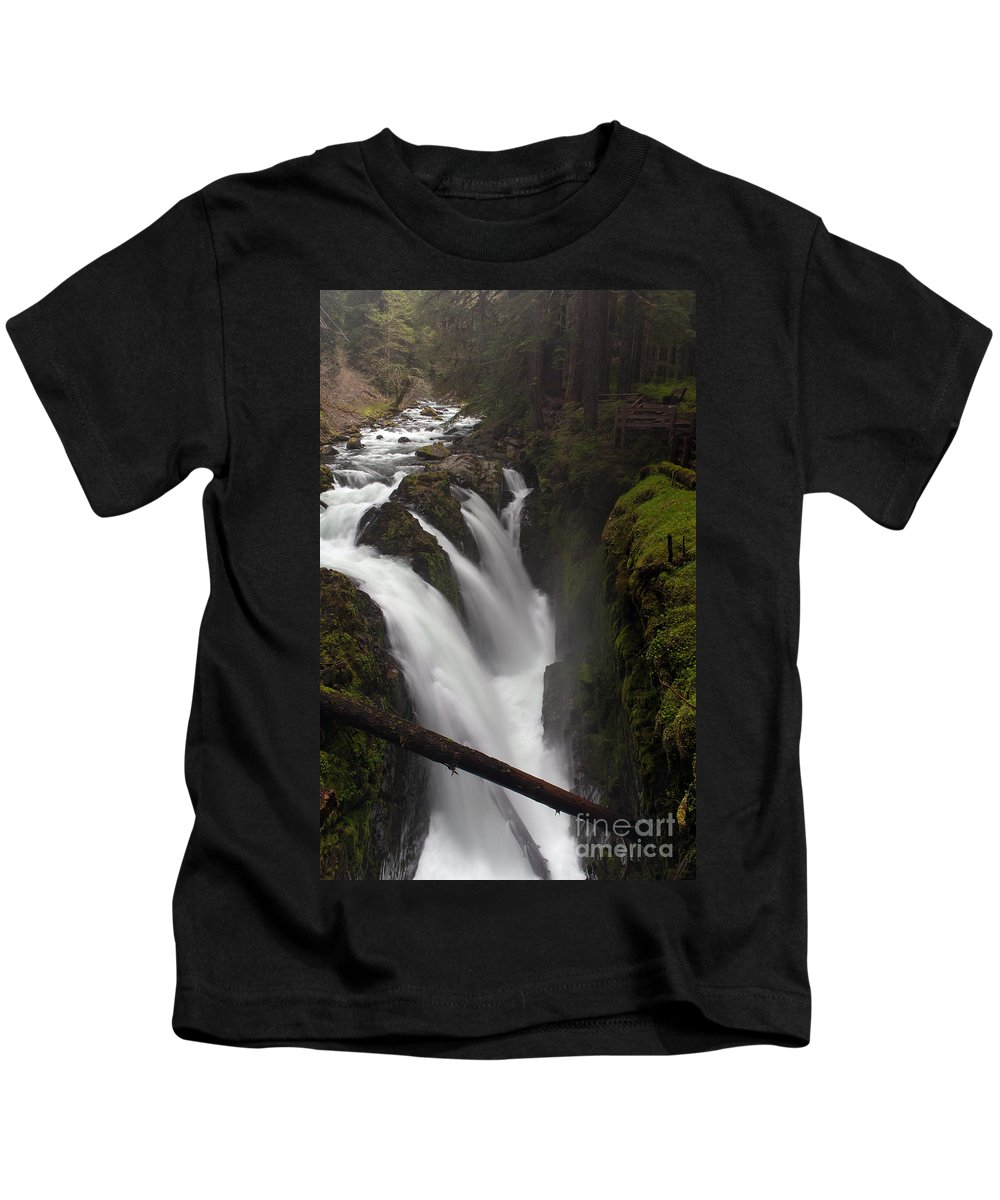 Olympic National Park Kids T-Shirt featuring the photograph Sol Duc Falls by Mike Reid